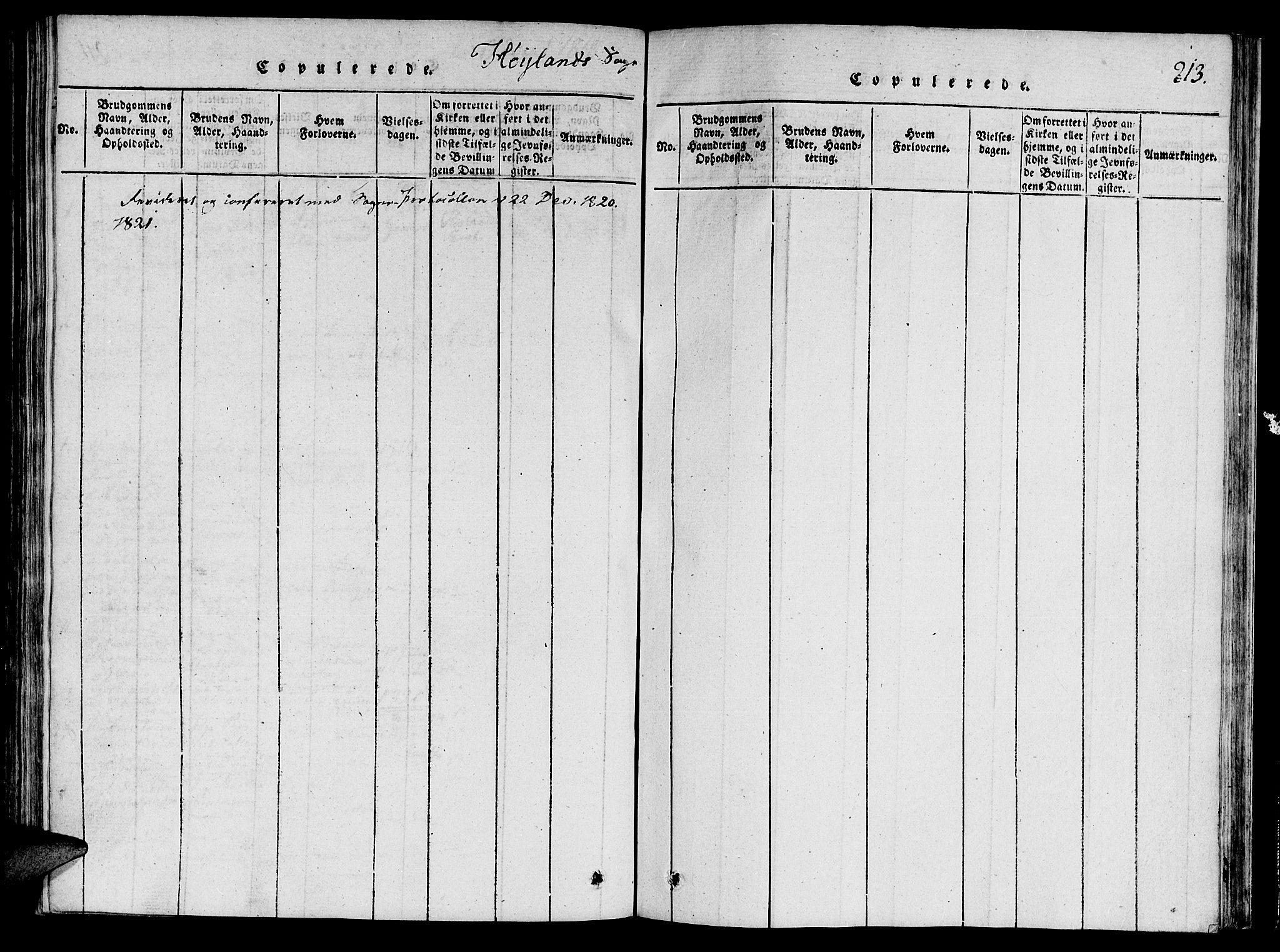 SAT, Ministerialprotokoller, klokkerbøker og fødselsregistre - Nord-Trøndelag, 764/L0546: Ministerialbok nr. 764A06 /3, 1817-1821, s. 213