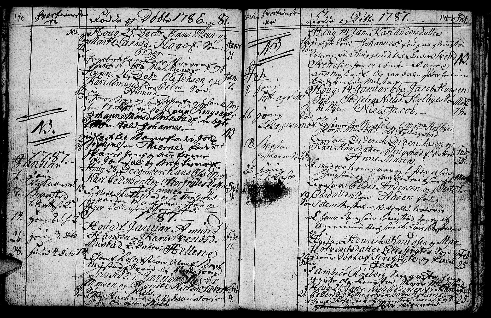 SAH, Vardal prestekontor, H/Ha/Hab/L0001: Klokkerbok nr. 1, 1771-1790, s. 140-141