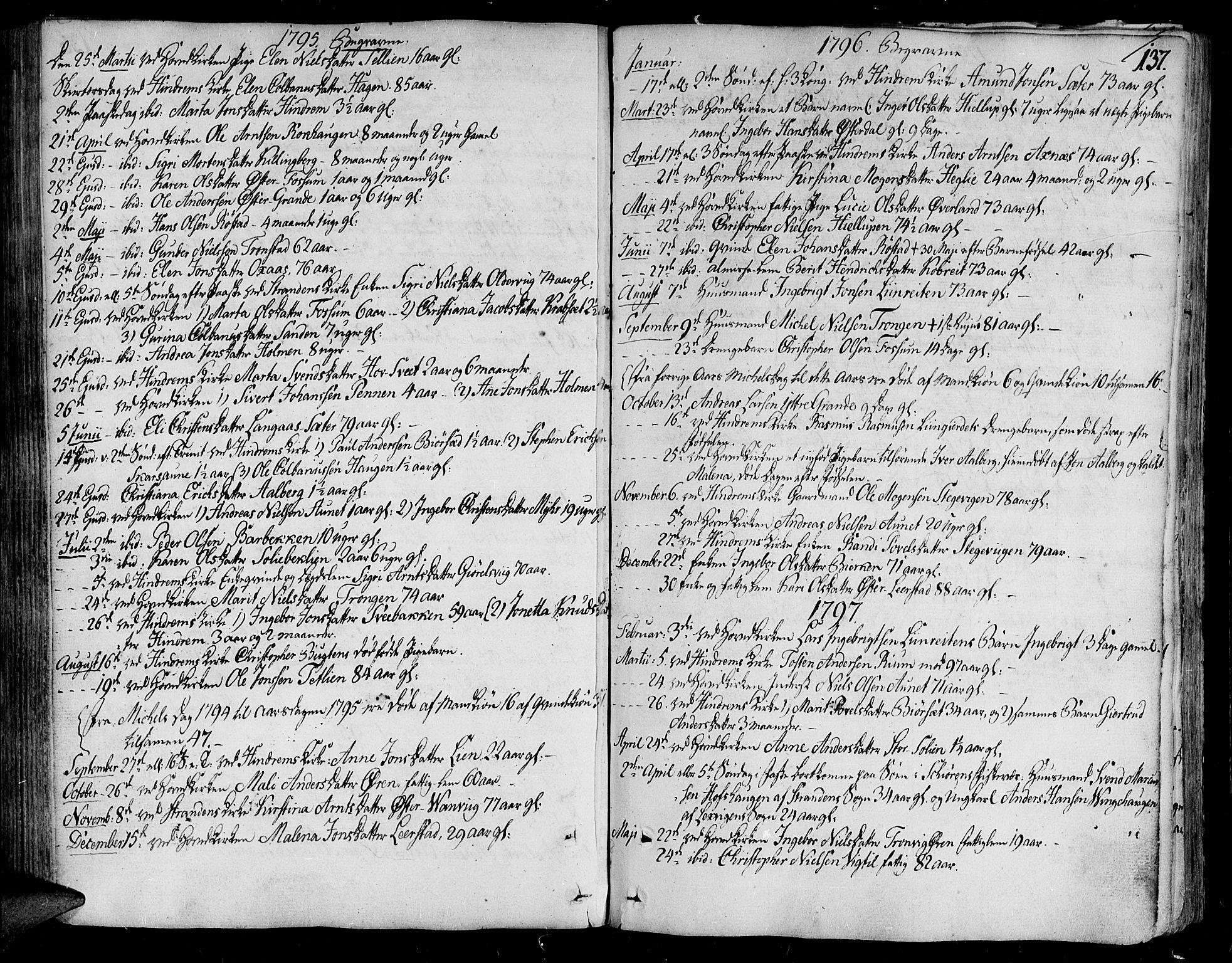 SAT, Ministerialprotokoller, klokkerbøker og fødselsregistre - Nord-Trøndelag, 701/L0004: Ministerialbok nr. 701A04, 1783-1816, s. 137