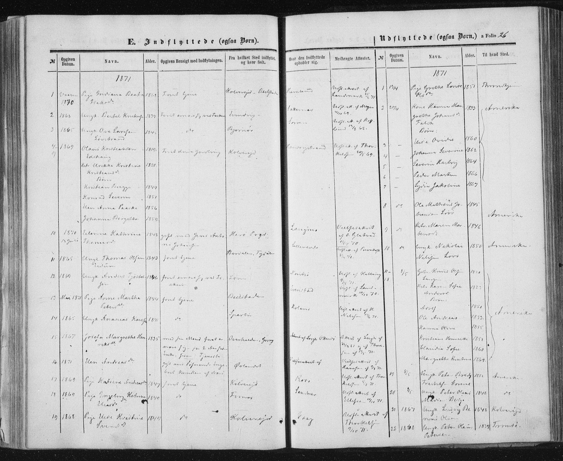 SAT, Ministerialprotokoller, klokkerbøker og fødselsregistre - Nord-Trøndelag, 784/L0670: Ministerialbok nr. 784A05, 1860-1876, s. 26