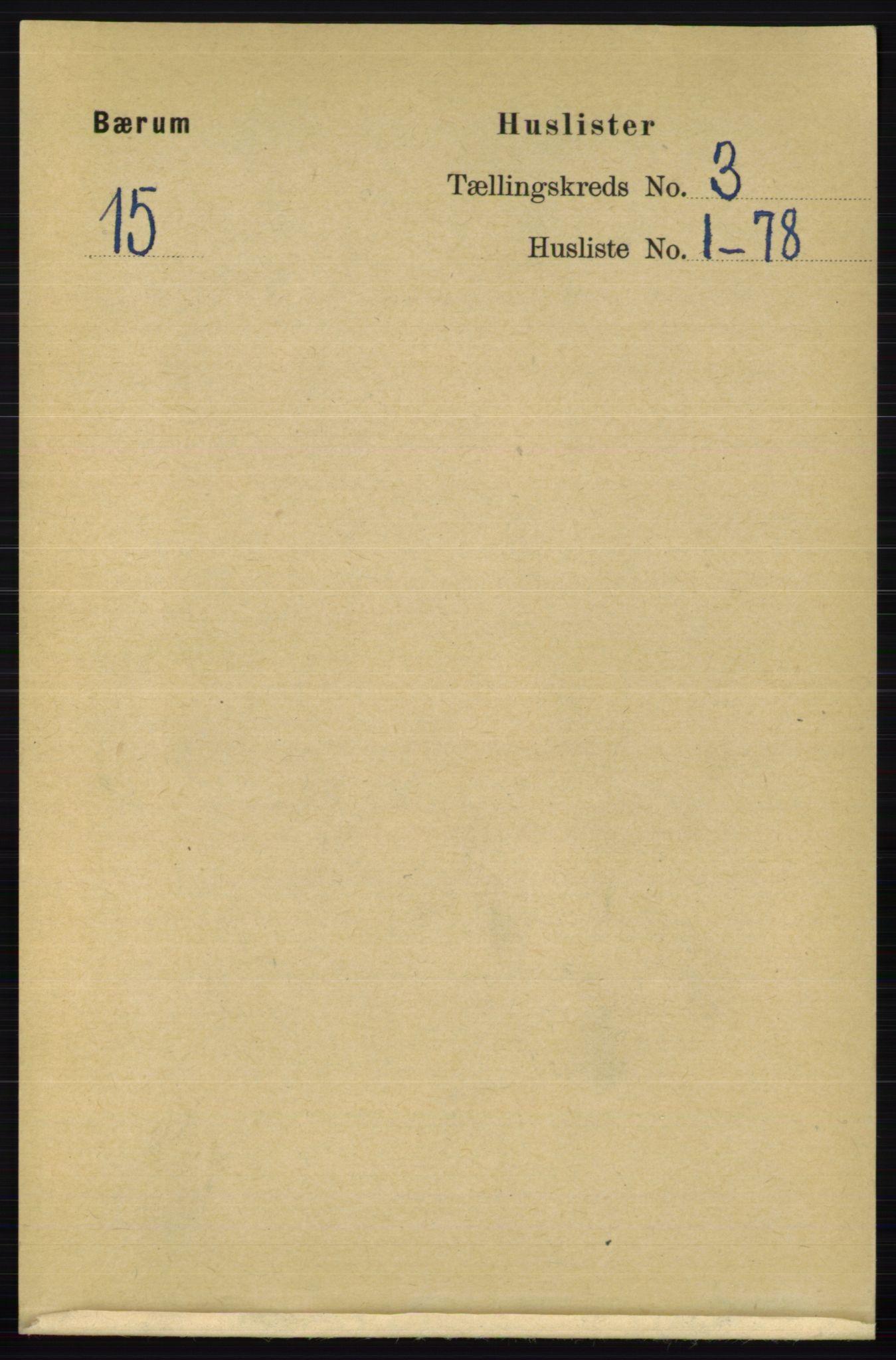 RA, Folketelling 1891 for 0219 Bærum herred, 1891, s. 1901