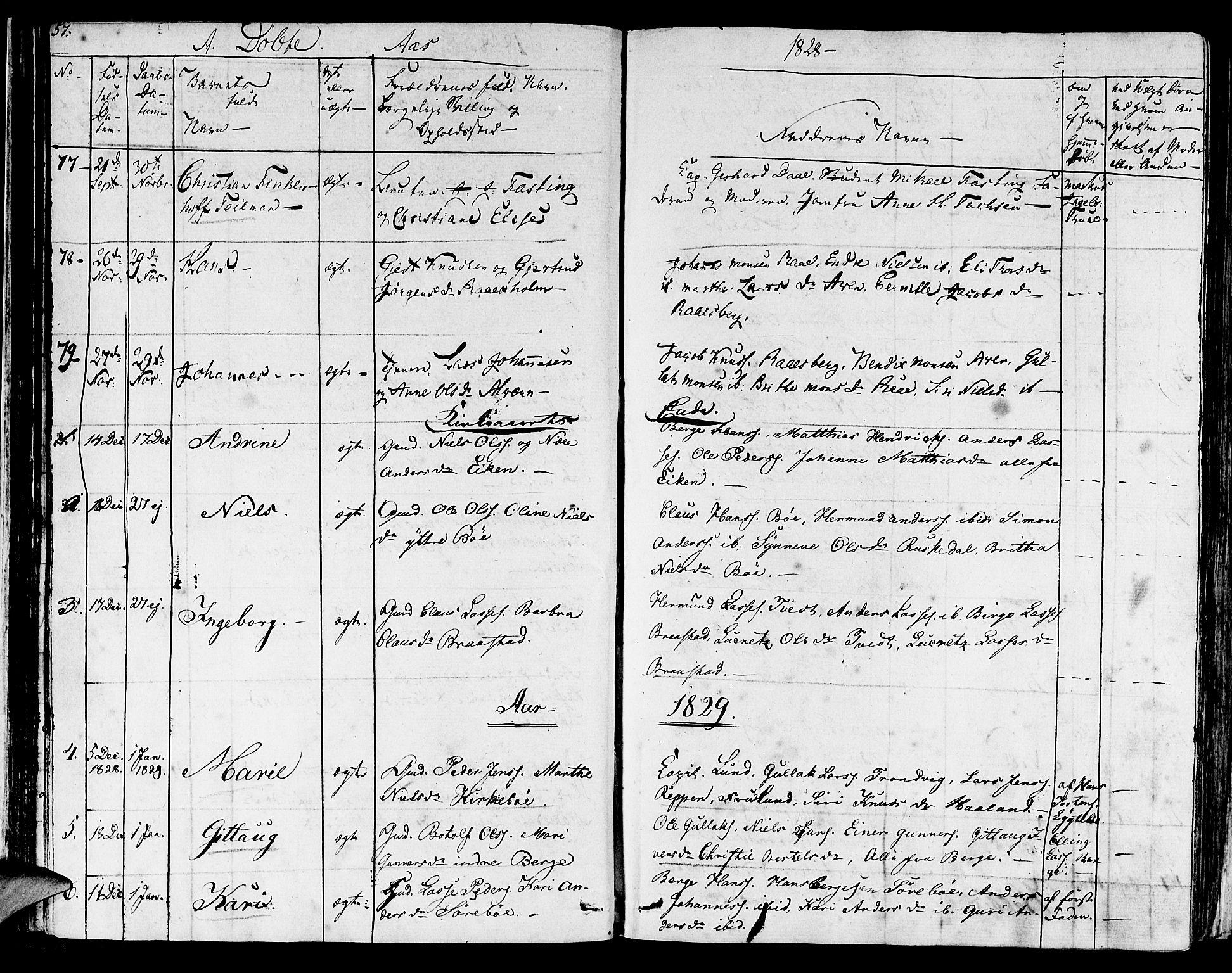 SAB, Lavik sokneprestembete, Ministerialbok nr. A 2I, 1821-1842, s. 57