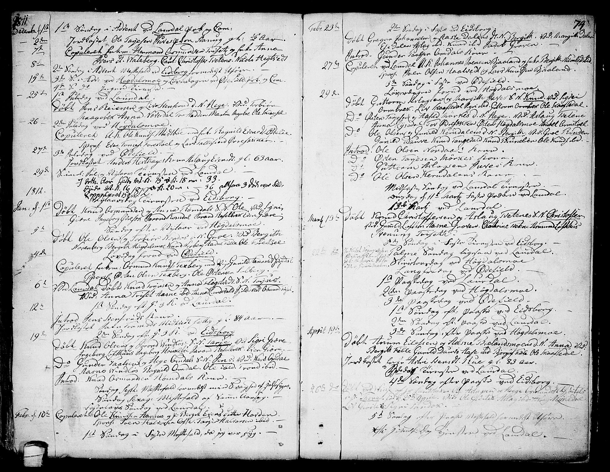 SAKO, Lårdal kirkebøker, F/Fa/L0004: Ministerialbok nr. I 4, 1790-1814, s. 74