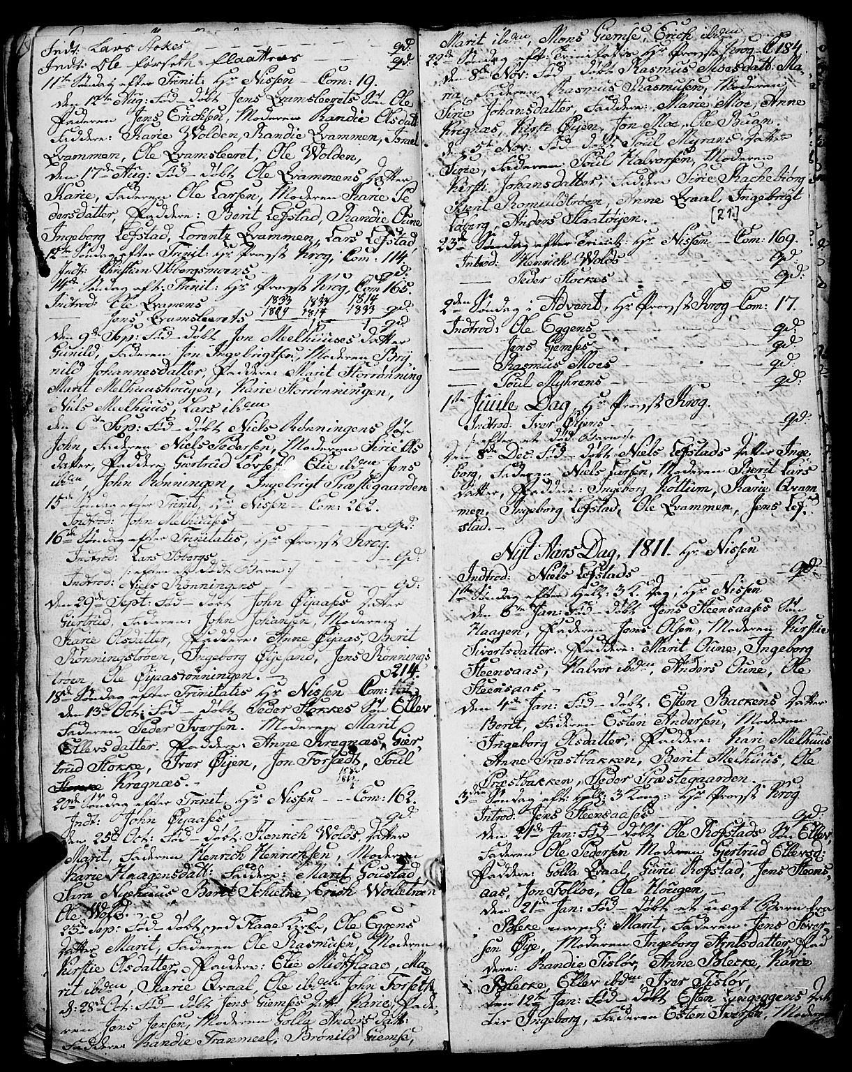 SAT, Ministerialprotokoller, klokkerbøker og fødselsregistre - Sør-Trøndelag, 691/L1091: Klokkerbok nr. 691C02, 1802-1815, s. 21