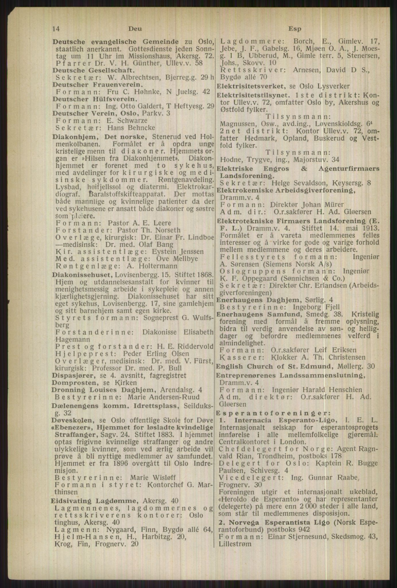 RA, Oslo adressebok (publikasjon)*, 1937, s. 14