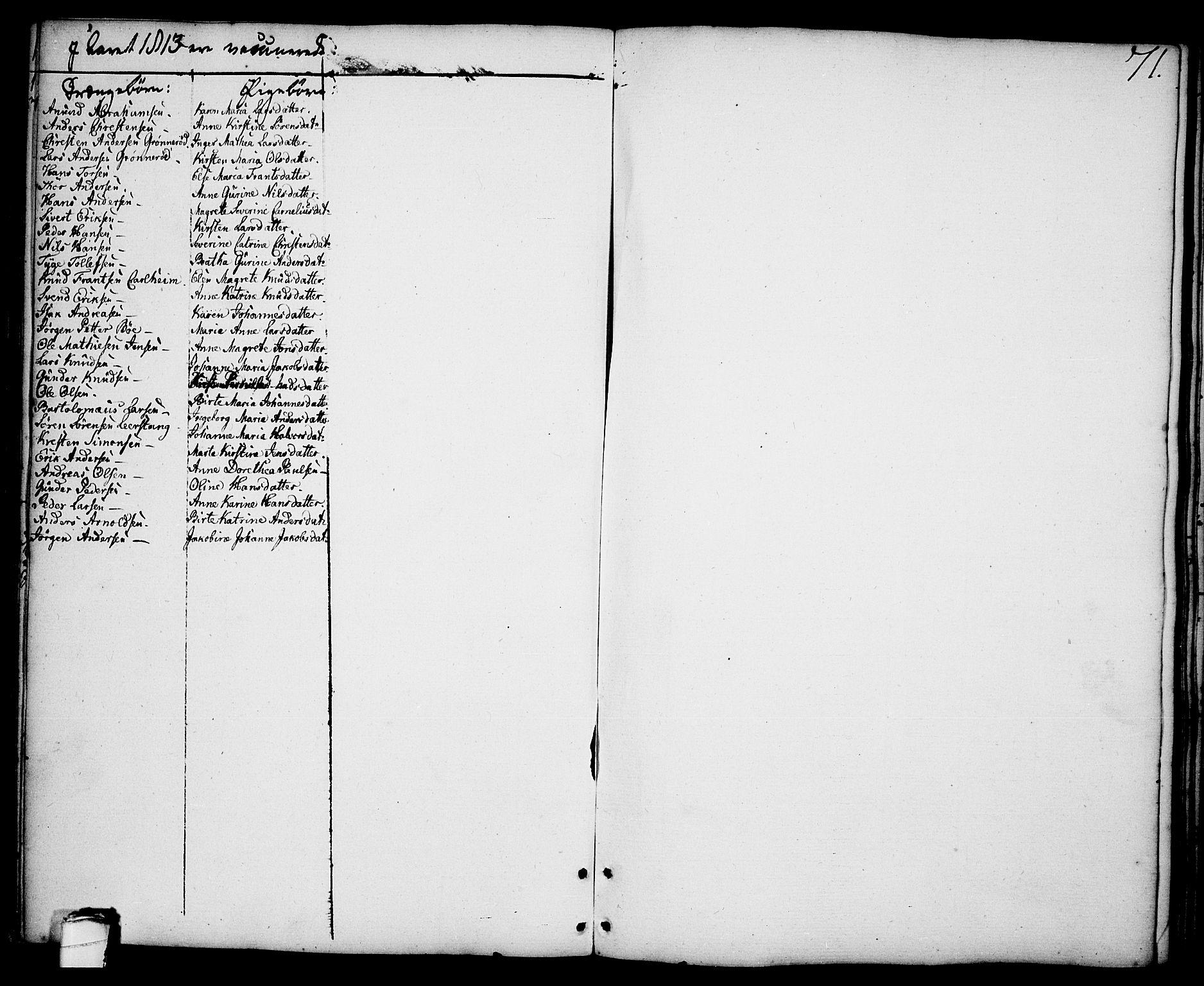 SAKO, Brevik kirkebøker, F/Fa/L0003: Ministerialbok nr. 3, 1764-1814, s. 71