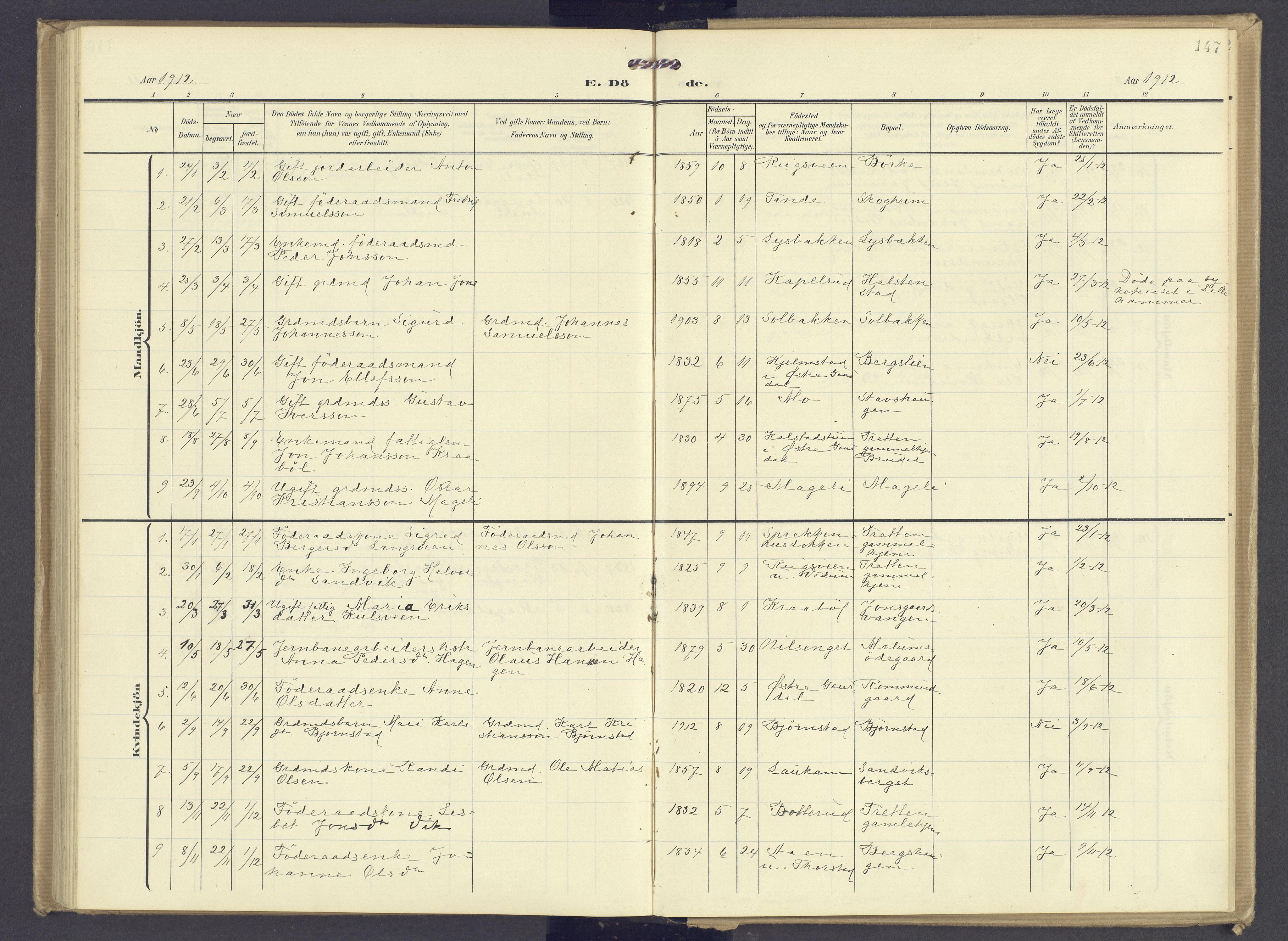 SAH, Øyer prestekontor, Ministerialbok nr. 13, 1905-1920, s. 147