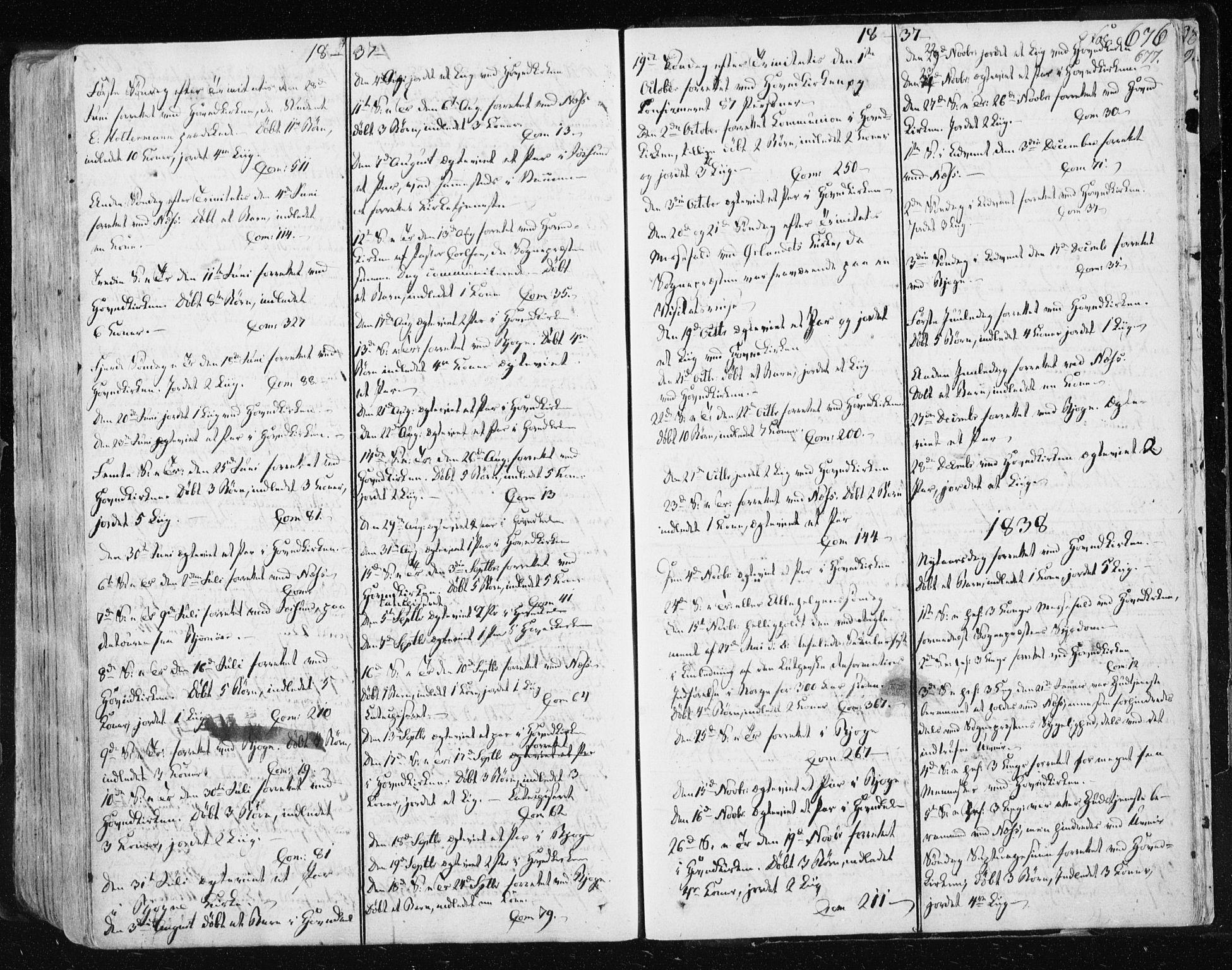 SAT, Ministerialprotokoller, klokkerbøker og fødselsregistre - Sør-Trøndelag, 659/L0735: Ministerialbok nr. 659A05, 1826-1841, s. 676