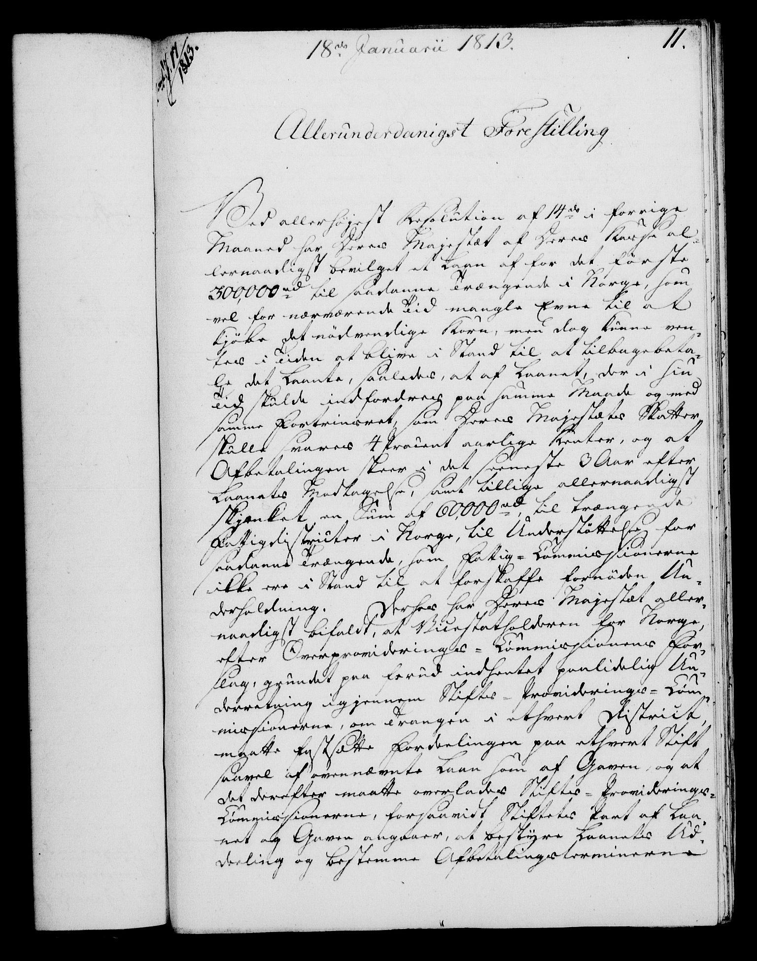 RA, Rentekammeret, Kammerkanselliet, G/Gf/Gfa/L0095: Norsk relasjons- og resolusjonsprotokoll (merket RK 52.95), 1813-1814, s. 65