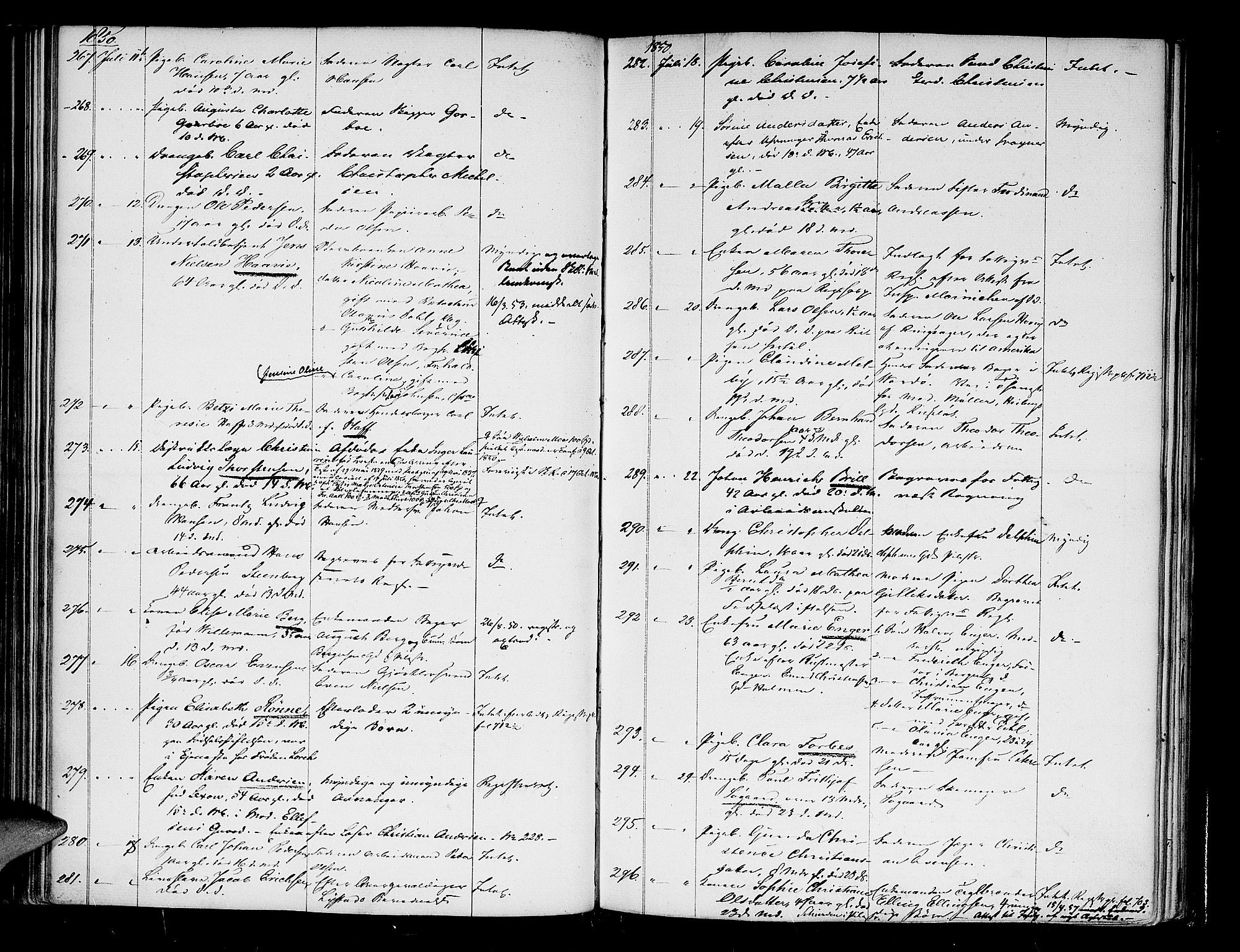 SAO, Oslo skifterett, G/Ga/Gaa/L0004: Dødsfallsprotokoll, 1846-1853