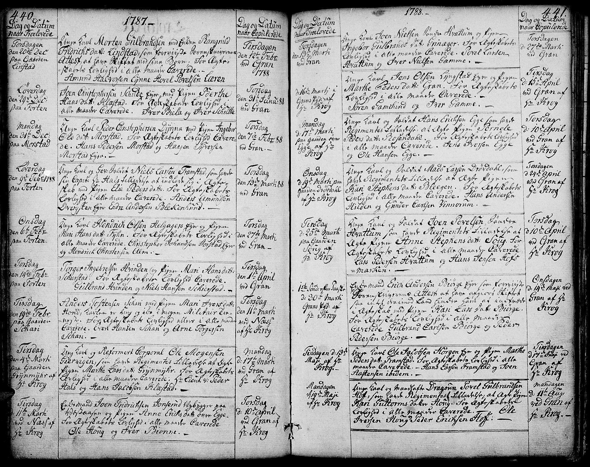 SAH, Gran prestekontor, Ministerialbok nr. 6, 1787-1824, s. 440-441