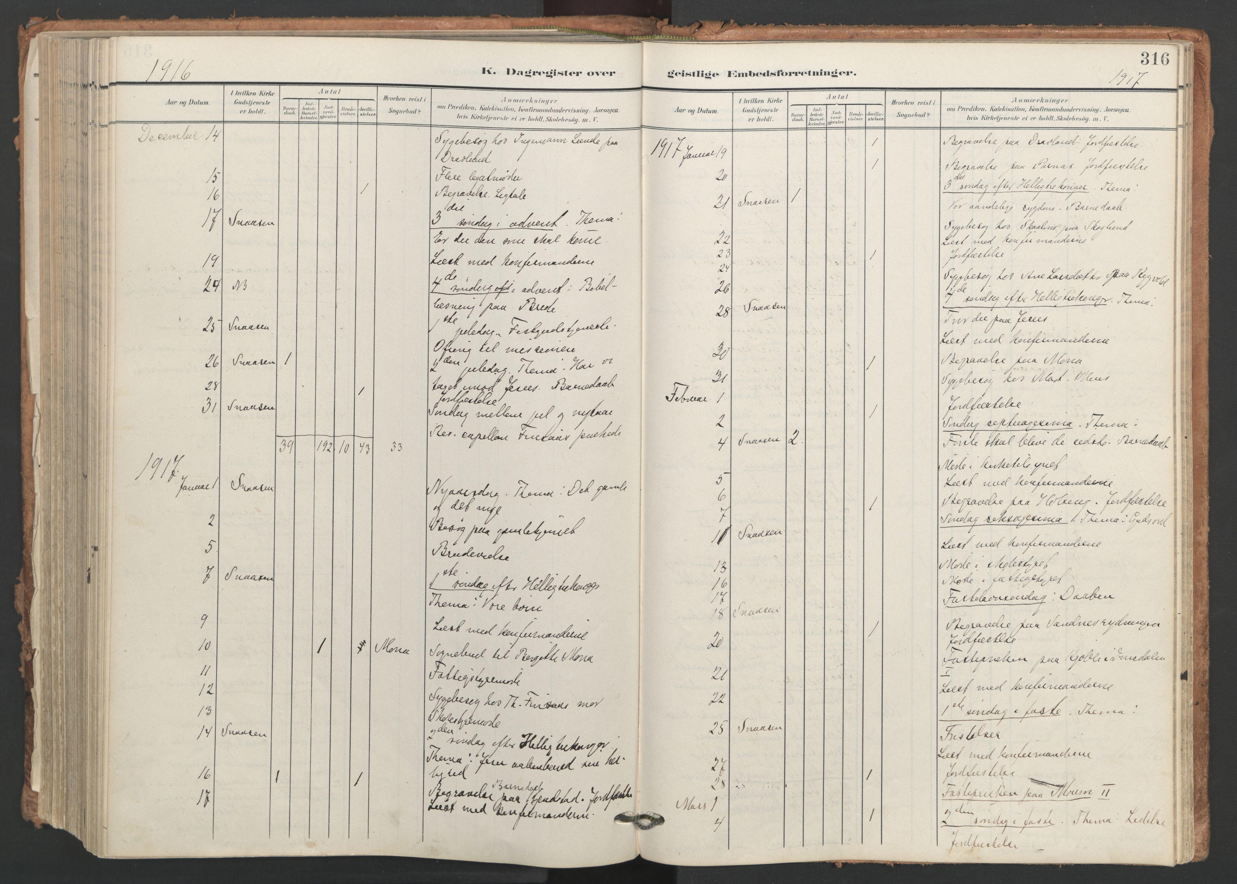 SAT, Ministerialprotokoller, klokkerbøker og fødselsregistre - Nord-Trøndelag, 749/L0477: Ministerialbok nr. 749A11, 1902-1927, s. 316
