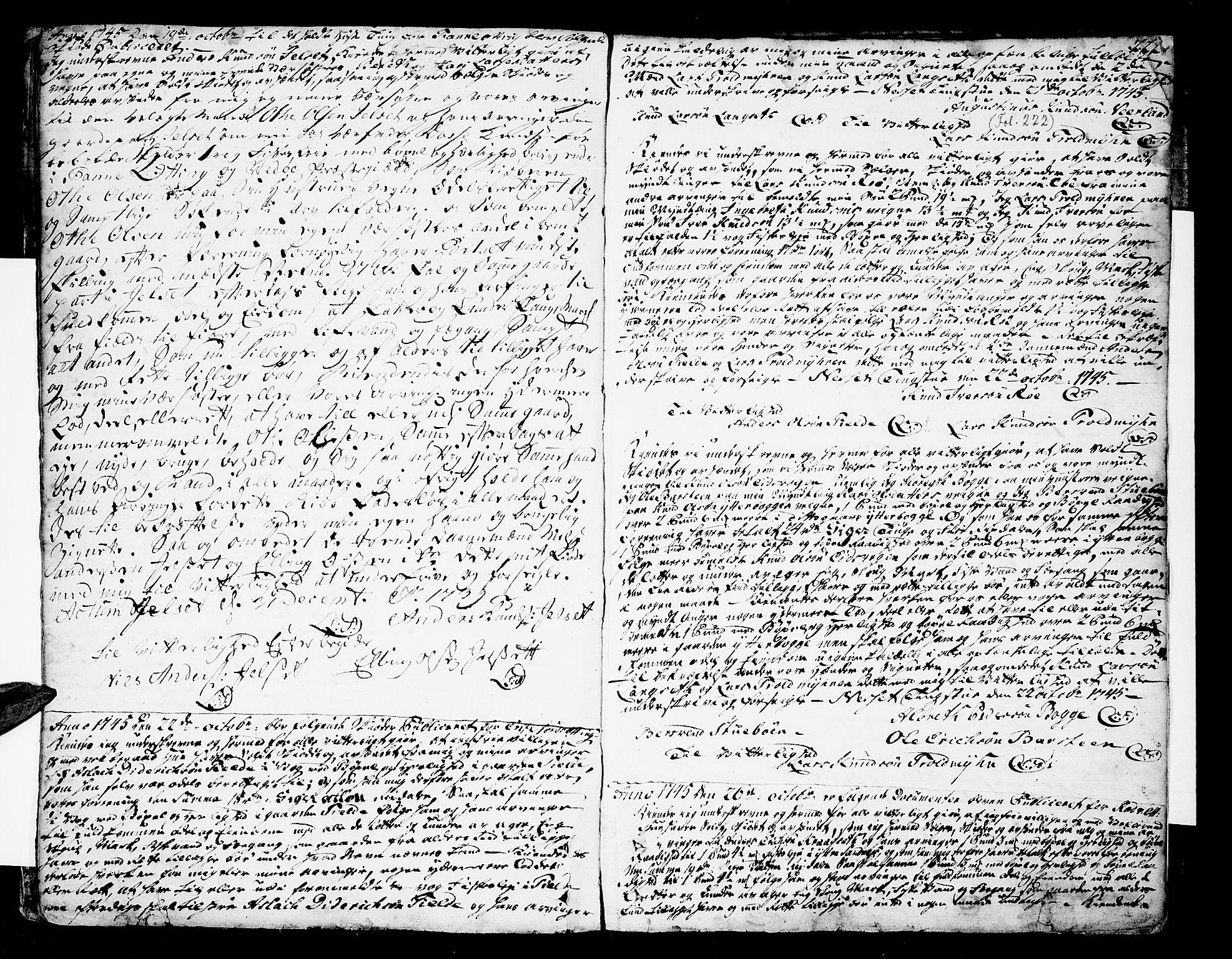 SAT, Romsdal sorenskriveri, 2/2C/L0002: Pantebok nr. 2, 1731-1745, s. 222