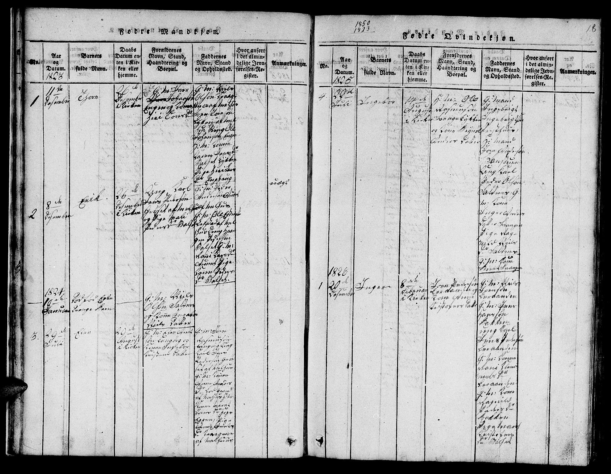 SAT, Ministerialprotokoller, klokkerbøker og fødselsregistre - Sør-Trøndelag, 666/L0788: Klokkerbok nr. 666C01, 1816-1847, s. 18