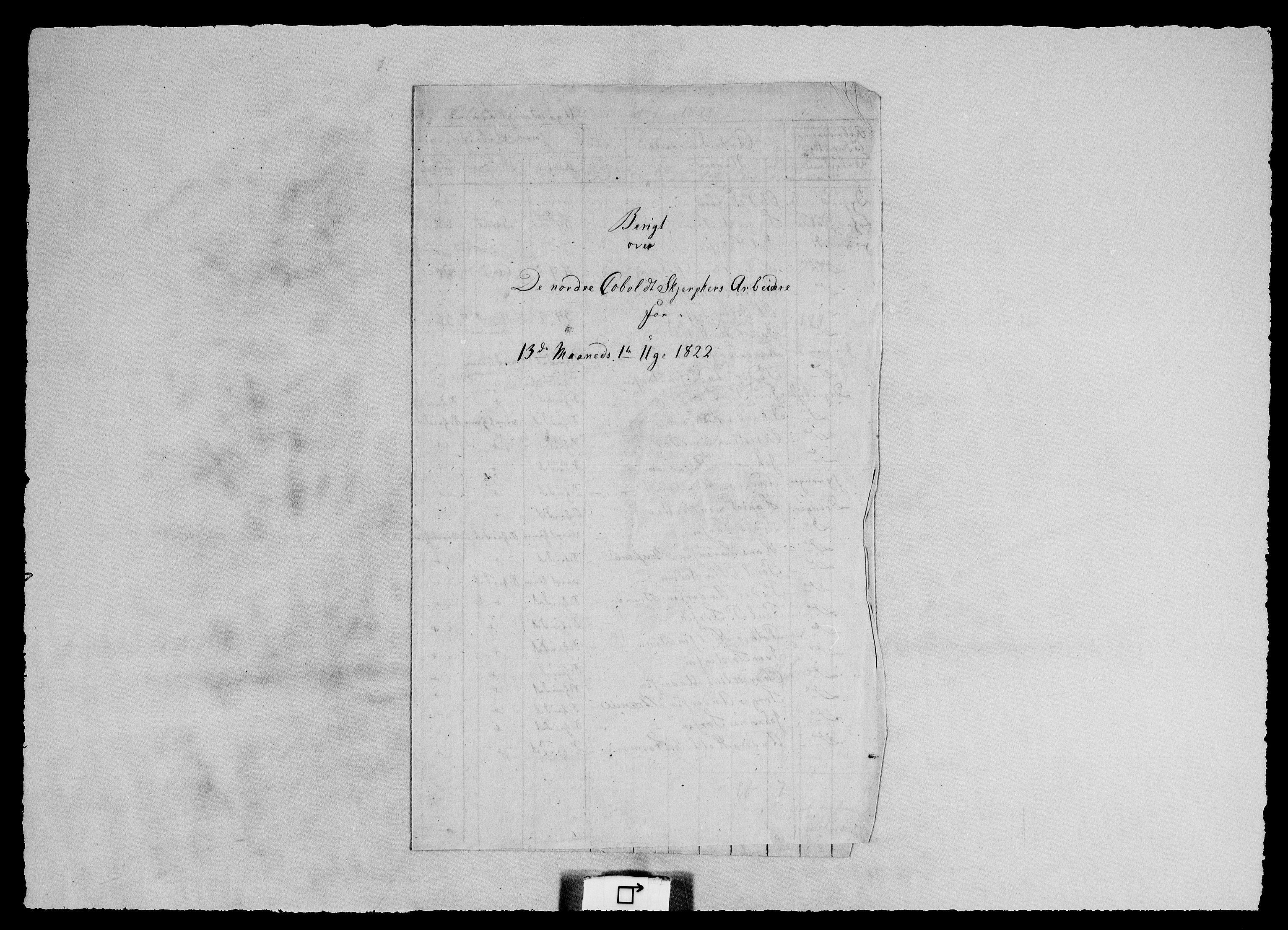 RA, Modums Blaafarveværk, G/Ge/L0327, 1822-1825, s. 2