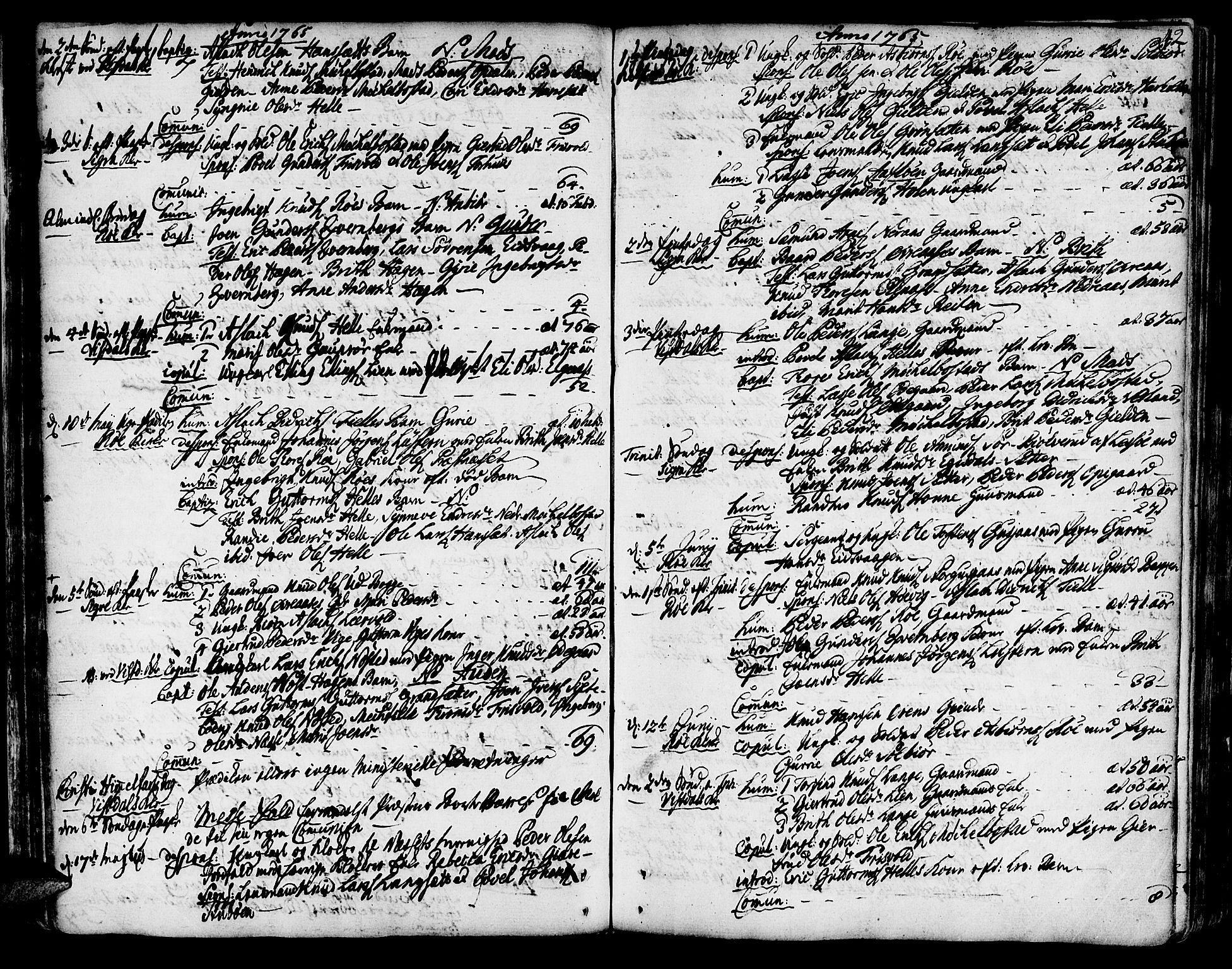 SAT, Ministerialprotokoller, klokkerbøker og fødselsregistre - Møre og Romsdal, 551/L0621: Ministerialbok nr. 551A01, 1757-1803, s. 42