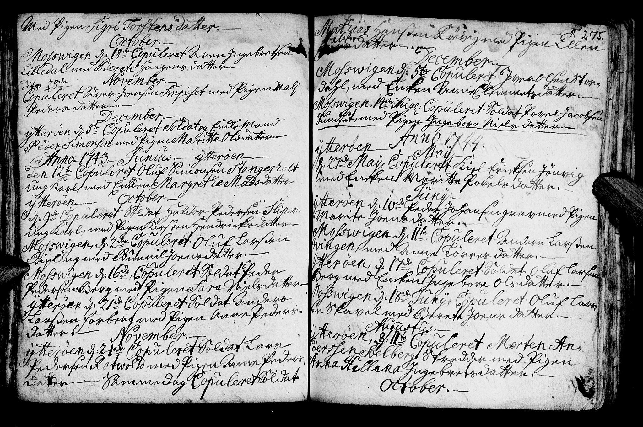 SAT, Ministerialprotokoller, klokkerbøker og fødselsregistre - Nord-Trøndelag, 722/L0215: Ministerialbok nr. 722A02, 1718-1755, s. 275