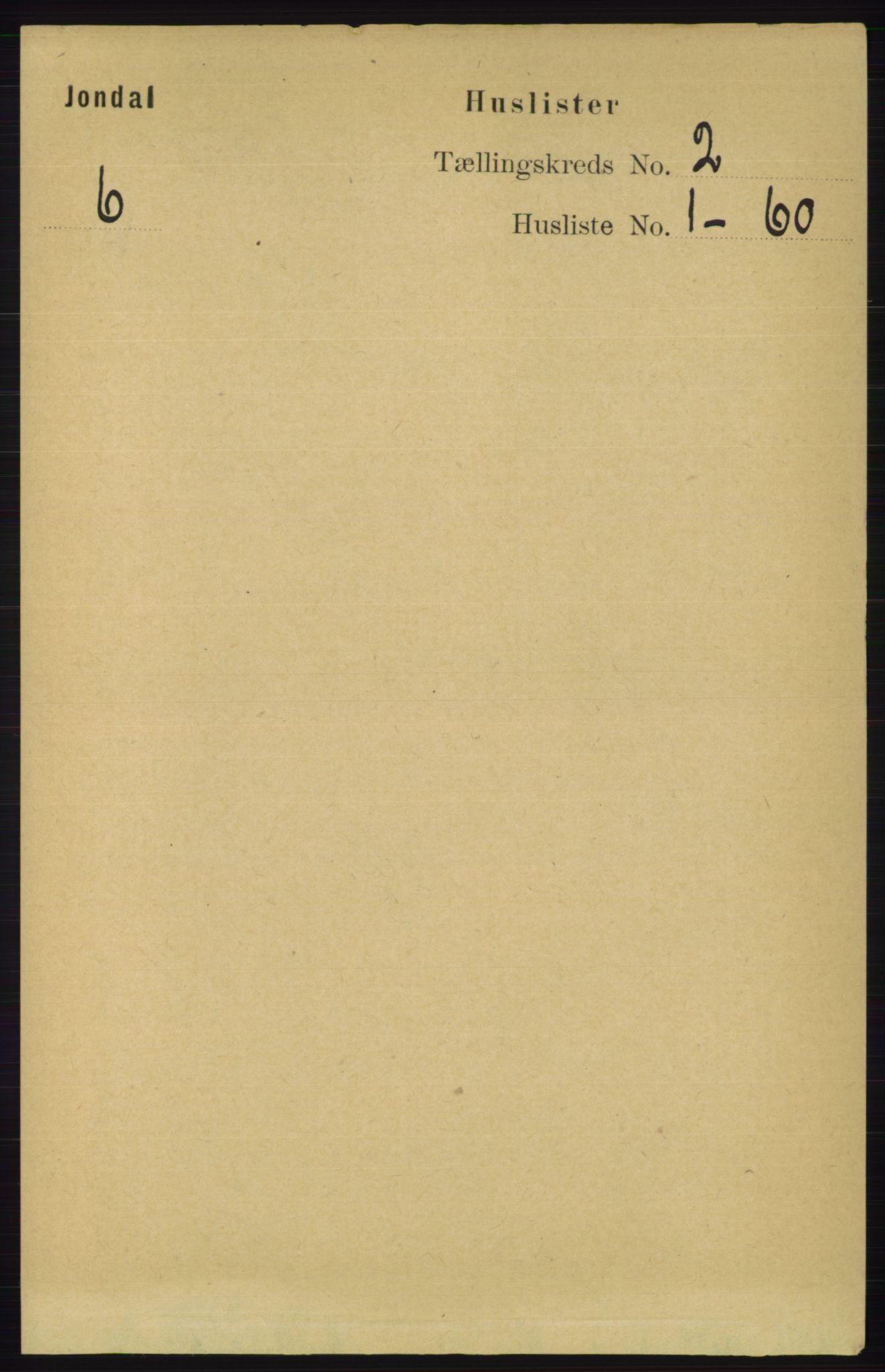 RA, Folketelling 1891 for 1227 Jondal herred, 1891, s. 776