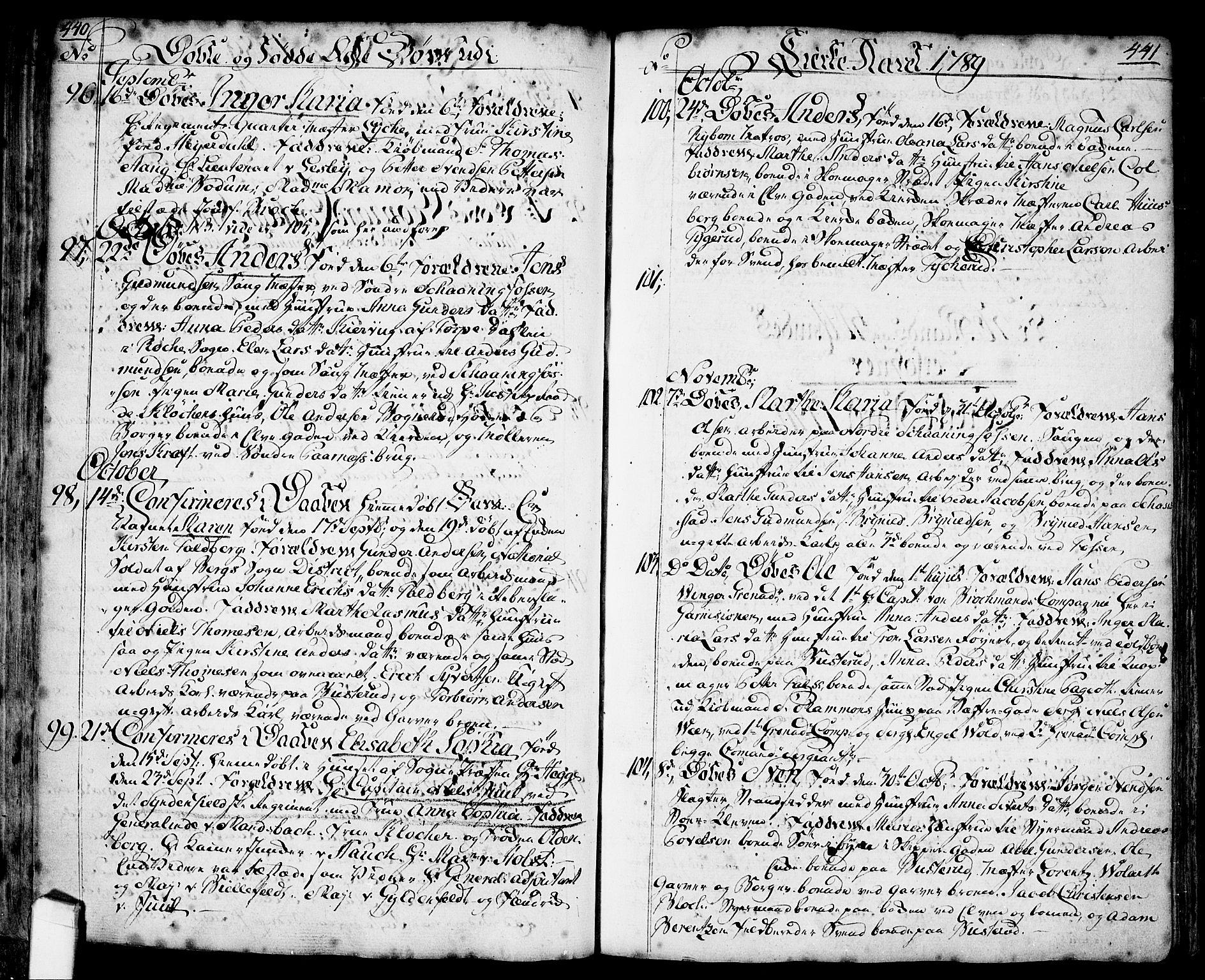 SAO, Halden prestekontor Kirkebøker, F/Fa/L0001: Ministerialbok nr. I 1, 1758-1791, s. 440-441