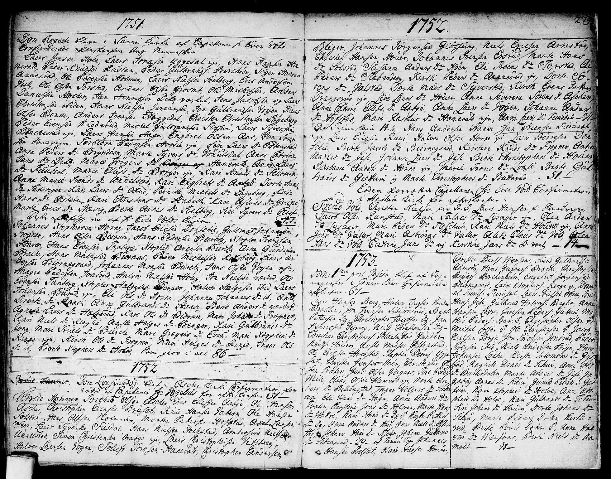 SAO, Asker prestekontor Kirkebøker, F/Fa/L0002: Ministerialbok nr. I 2, 1733-1766, s. 279