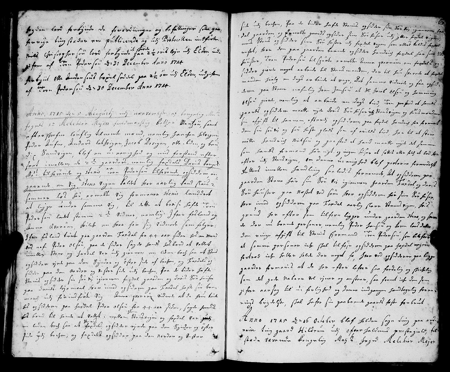 SAT, Namdal sorenskriveri, 1/1A/L0004: Tingbok, 1712-1728, s. 60b-61a