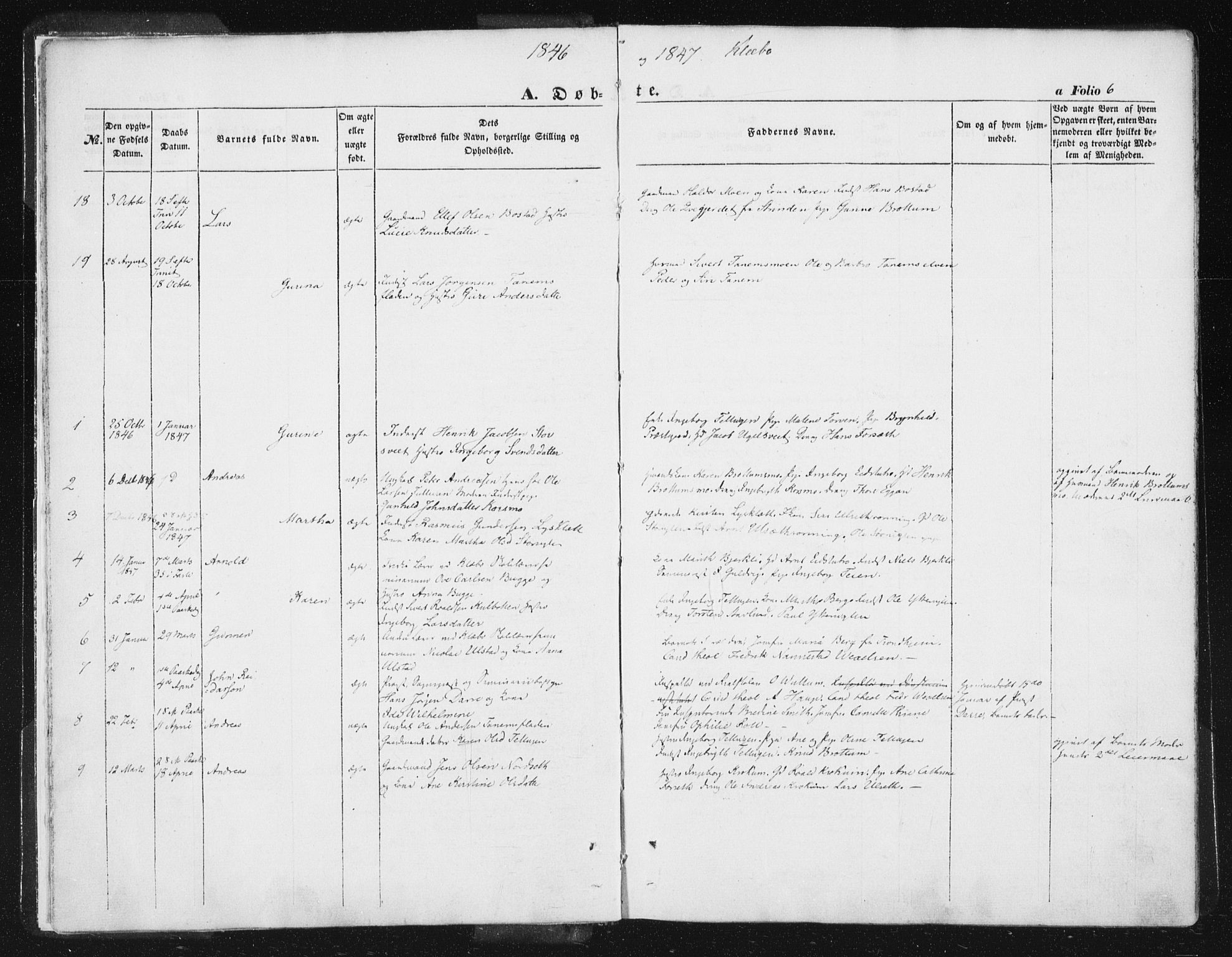 SAT, Ministerialprotokoller, klokkerbøker og fødselsregistre - Sør-Trøndelag, 618/L0441: Ministerialbok nr. 618A05, 1843-1862, s. 6