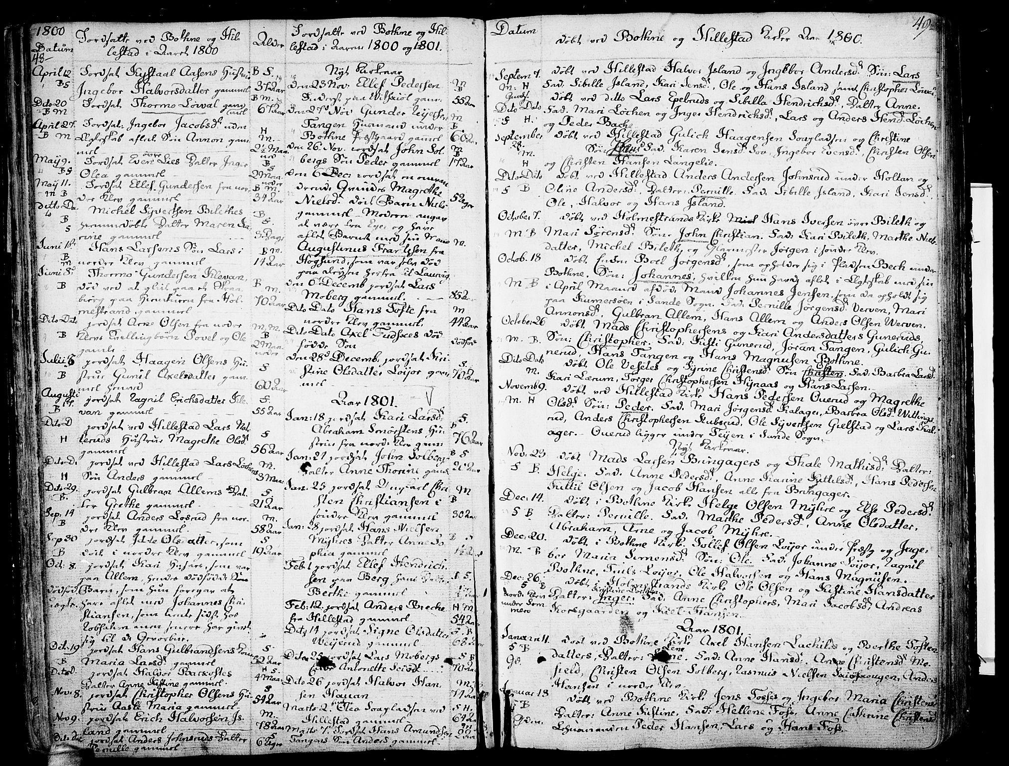 SAKO, Botne kirkebøker, F/Fa/L0003: Ministerialbok nr. I 3 /1, 1792-1844, s. 48-49