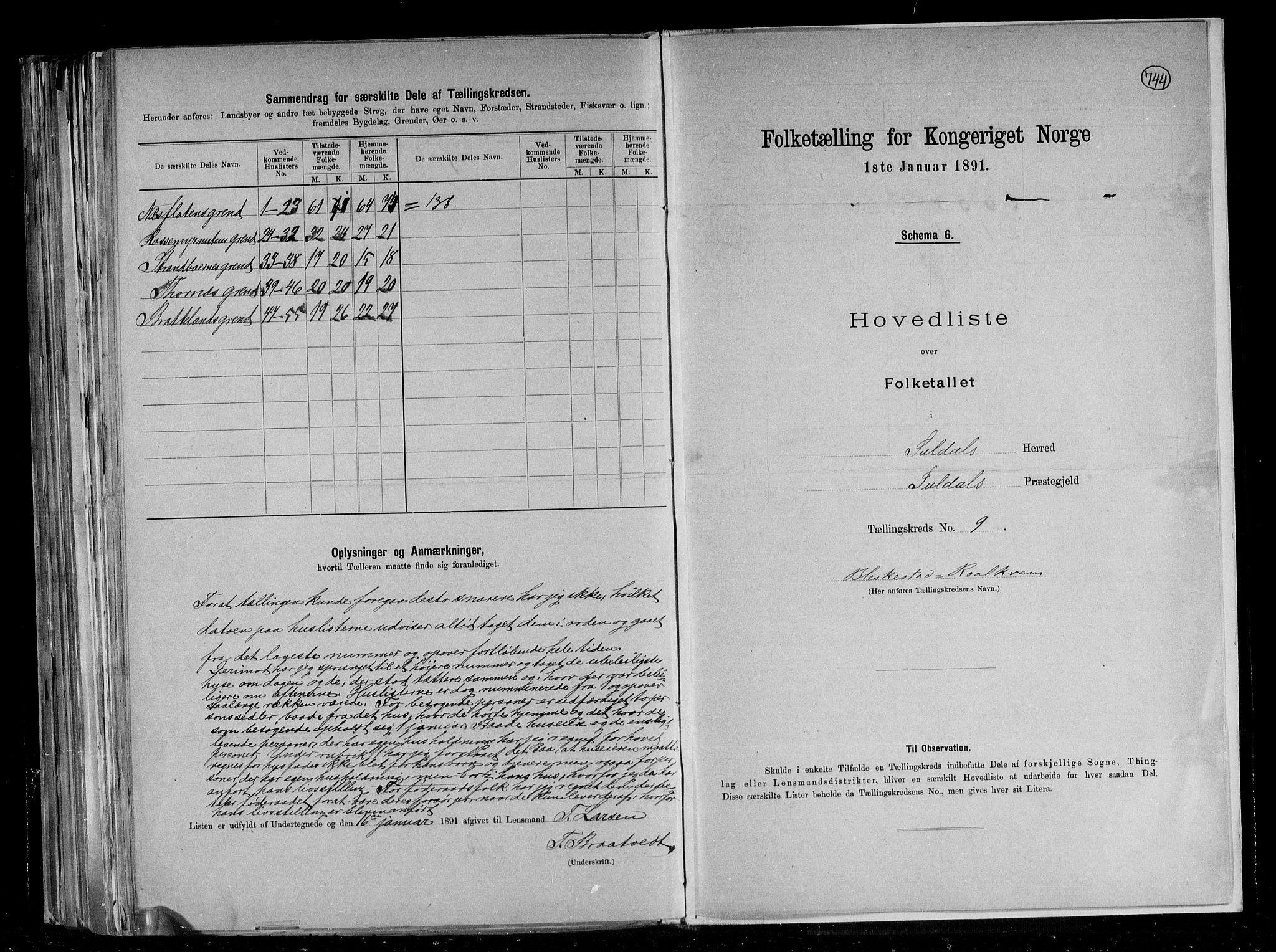 RA, Folketelling 1891 for 1134 Suldal herred, 1891, s. 21