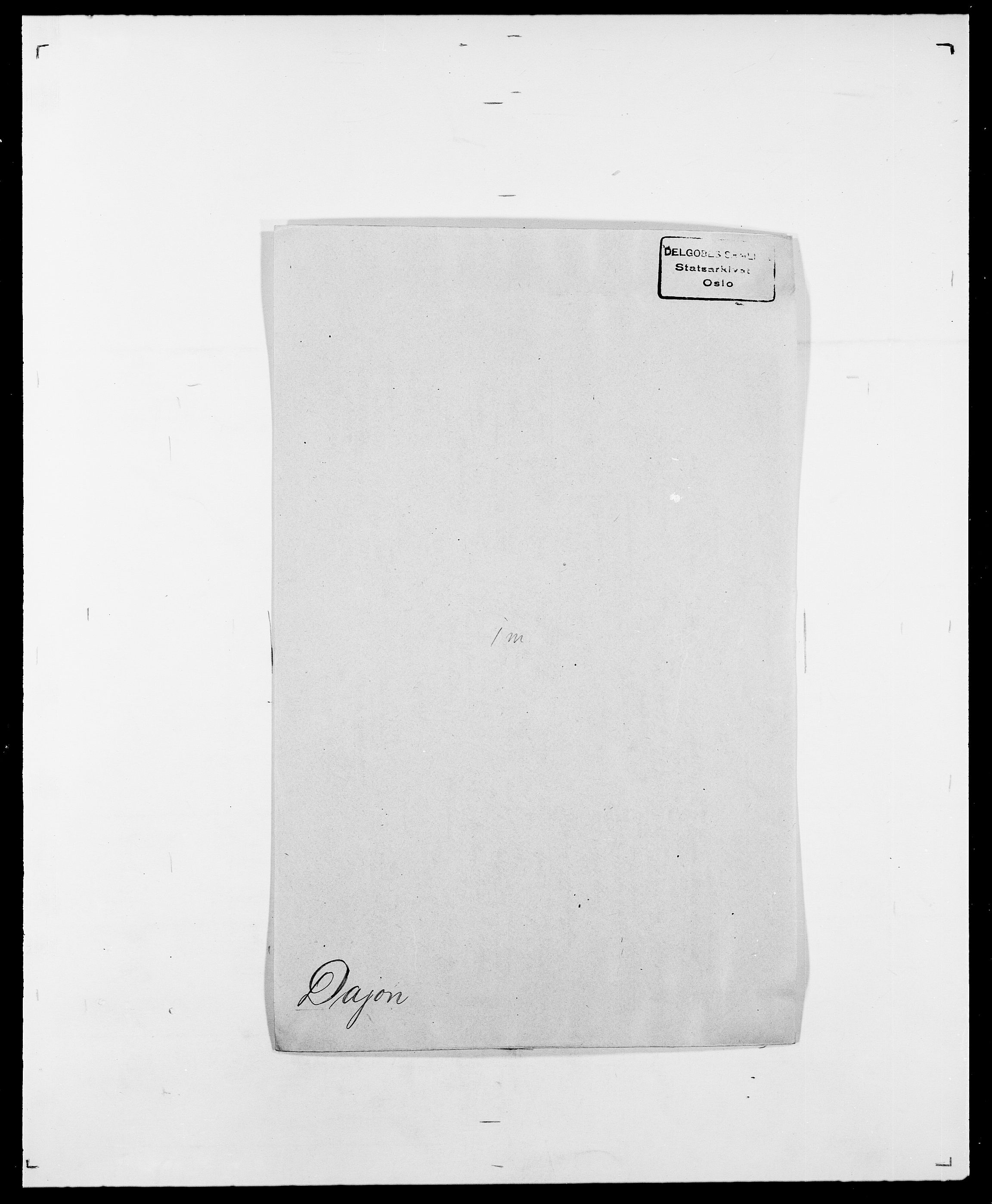 SAO, Delgobe, Charles Antoine - samling, D/Da/L0009: Dahl - v. Düren, s. 244