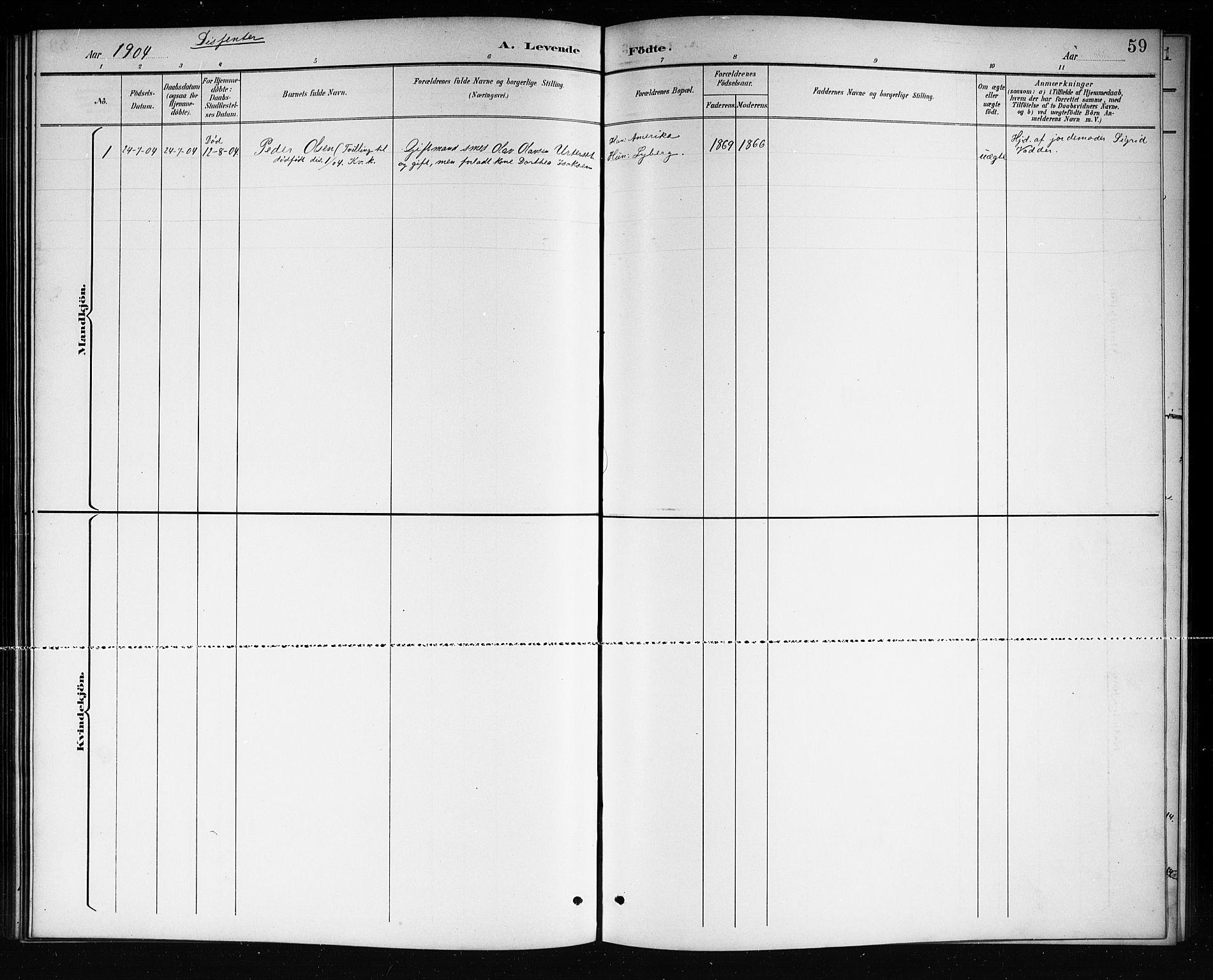 SAKO, Mo kirkebøker, G/Ga/L0002: Klokkerbok nr. I 2, 1892-1914, s. 59