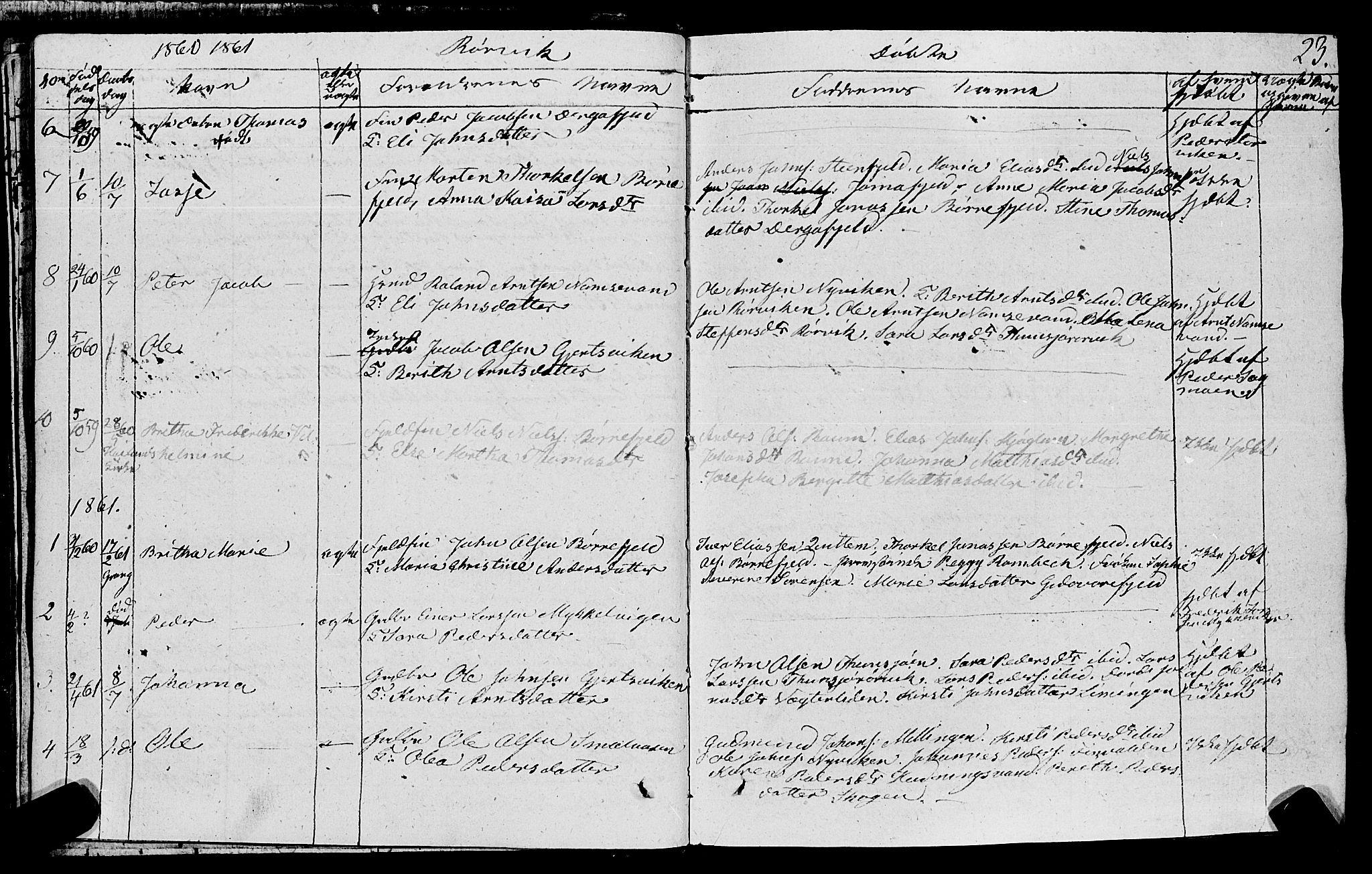 SAT, Ministerialprotokoller, klokkerbøker og fødselsregistre - Nord-Trøndelag, 762/L0538: Ministerialbok nr. 762A02 /1, 1833-1879, s. 23