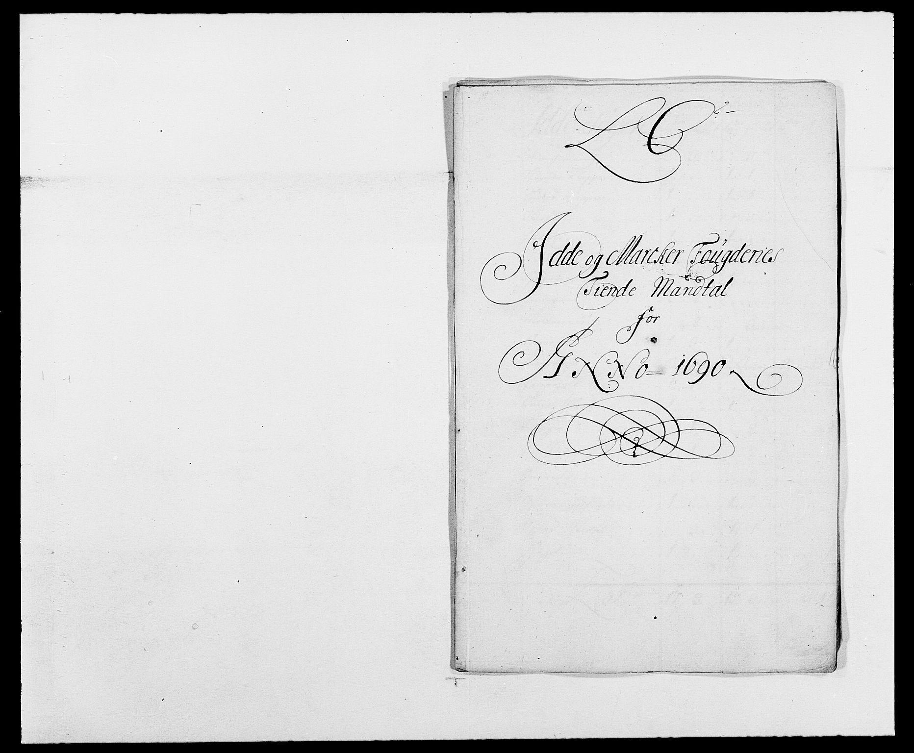 RA, Rentekammeret inntil 1814, Reviderte regnskaper, Fogderegnskap, R01/L0010: Fogderegnskap Idd og Marker, 1690-1691, s. 185