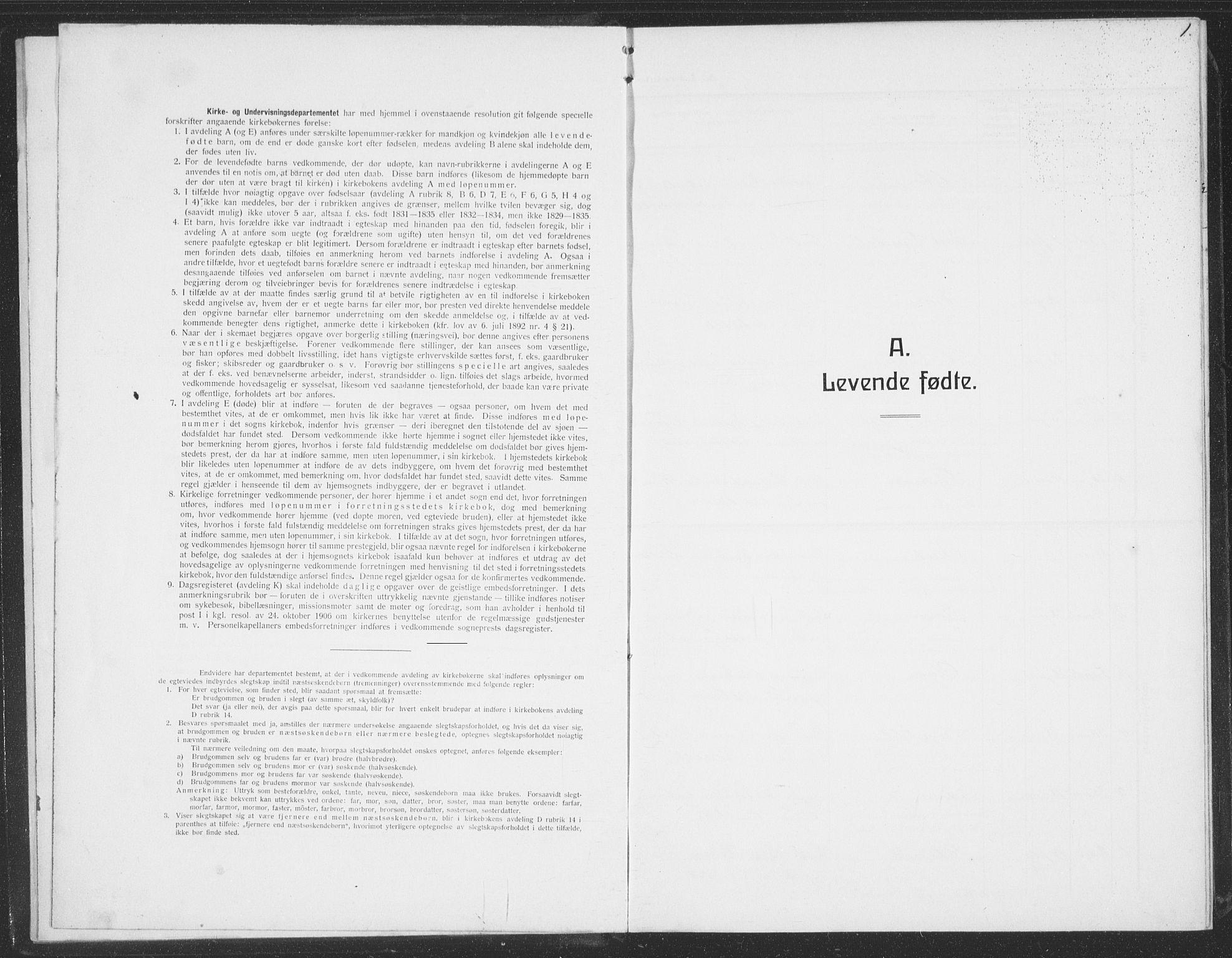 SAT, Ministerialprotokoller, klokkerbøker og fødselsregistre - Sør-Trøndelag, 691/L1095: Klokkerbok nr. 691C06, 1912-1933, s. 1