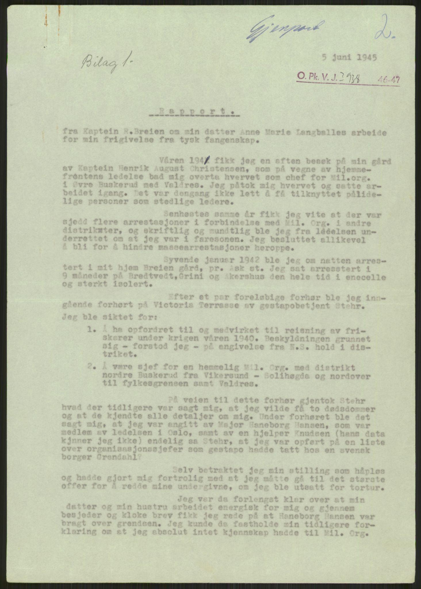 RA, Landssvikarkivet, Oslo politikammer, D/Dg/L0267: Henlagt hnr. 3658, 1945-1946, s. 135