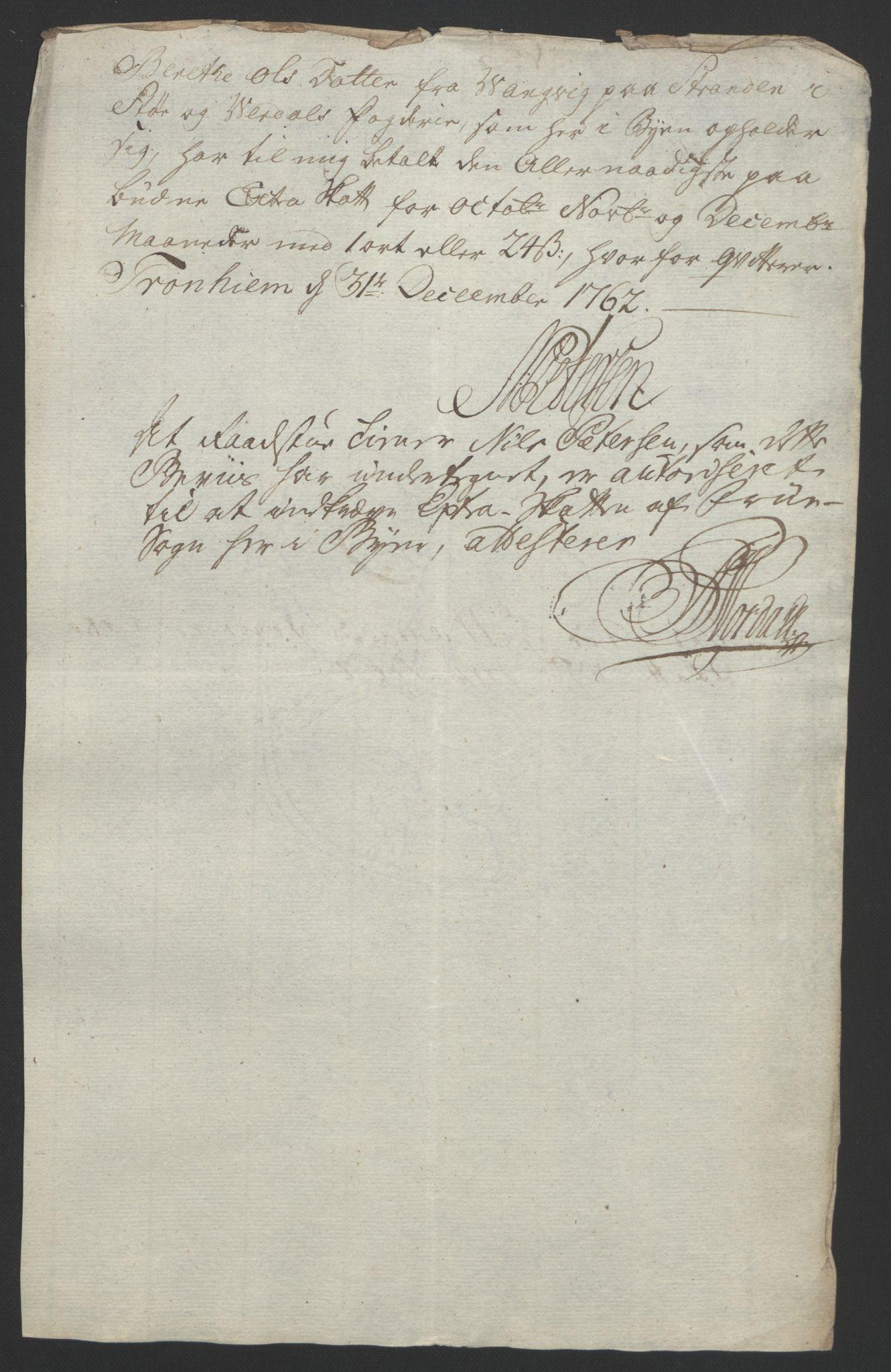 RA, Rentekammeret inntil 1814, Reviderte regnskaper, Fogderegnskap, R62/L4303: Ekstraskatten Stjørdal og Verdal, 1762-1763, s. 15