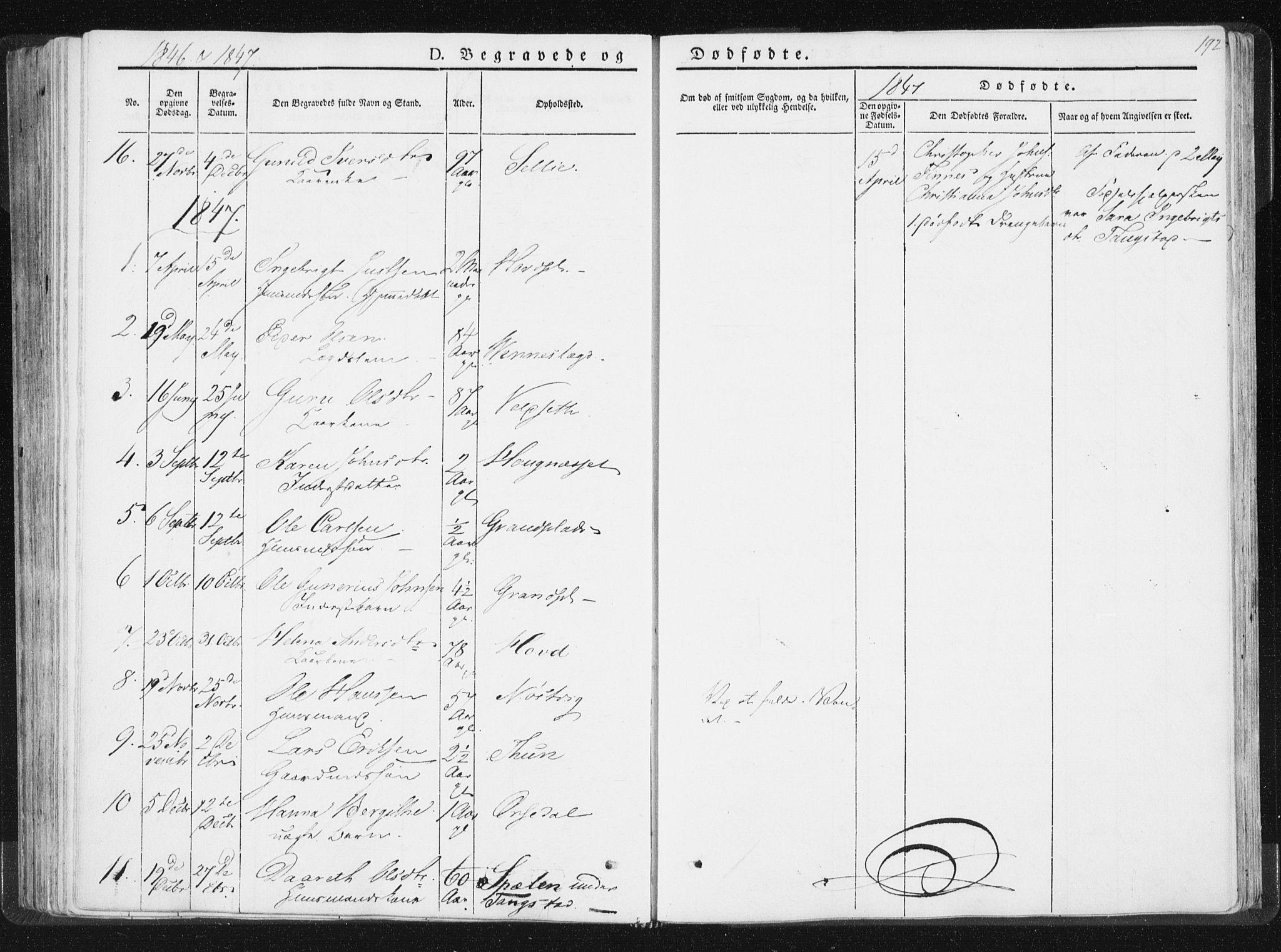 SAT, Ministerialprotokoller, klokkerbøker og fødselsregistre - Nord-Trøndelag, 744/L0418: Ministerialbok nr. 744A02, 1843-1866, s. 192