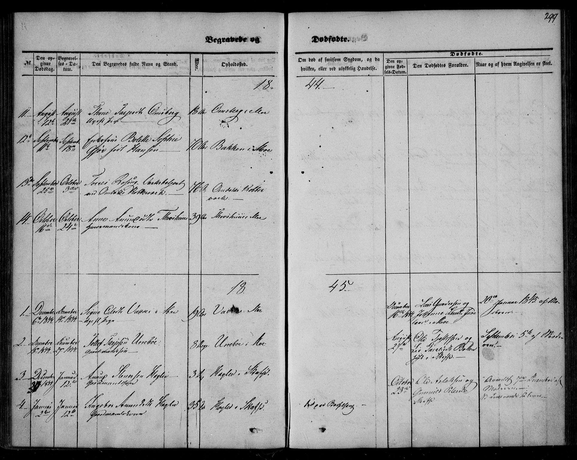 SAKO, Mo kirkebøker, F/Fa/L0005: Ministerialbok nr. I 5, 1844-1864, s. 299