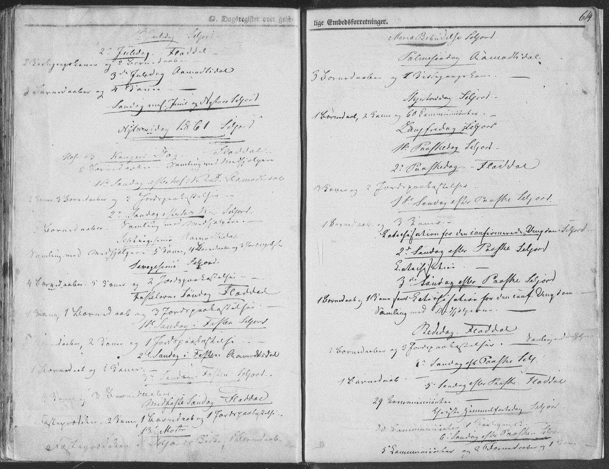 SAKO, Seljord kirkebøker, F/Fa/L012b: Ministerialbok nr. I 12B, 1850-1865, s. 614