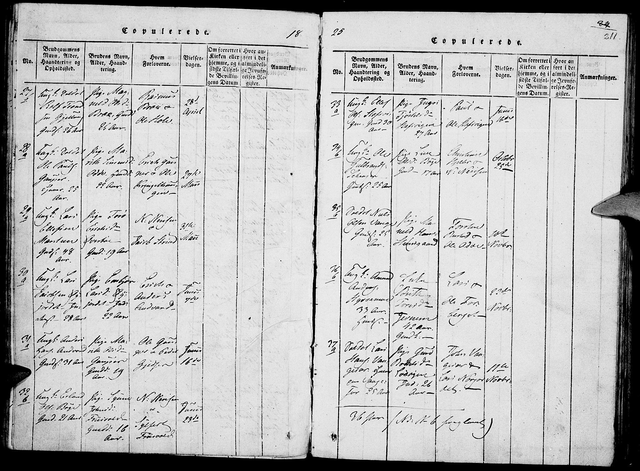 SAH, Lom prestekontor, K/L0004: Ministerialbok nr. 4, 1815-1825, s. 211