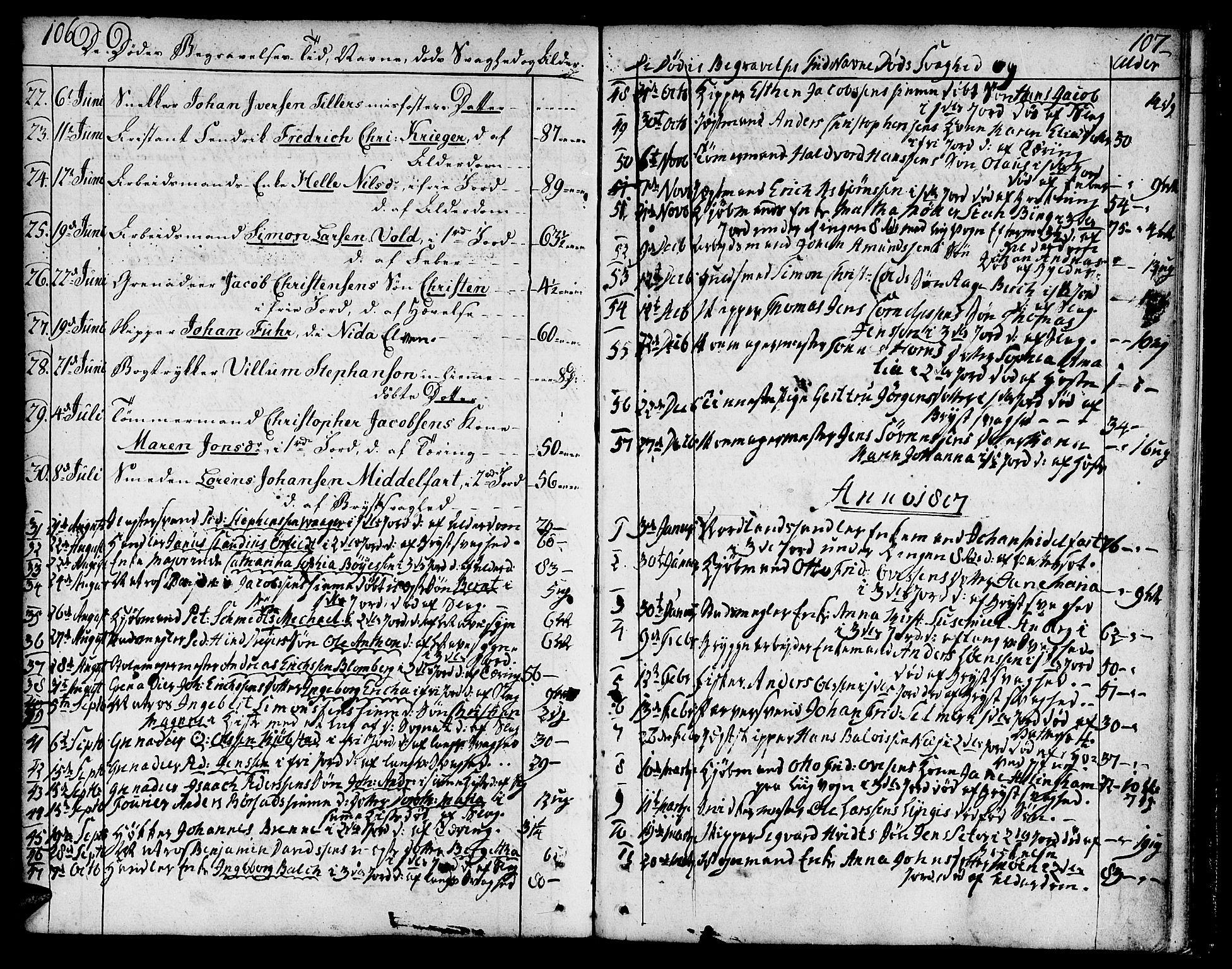 SAT, Ministerialprotokoller, klokkerbøker og fødselsregistre - Sør-Trøndelag, 602/L0106: Ministerialbok nr. 602A04, 1774-1814, s. 106-107