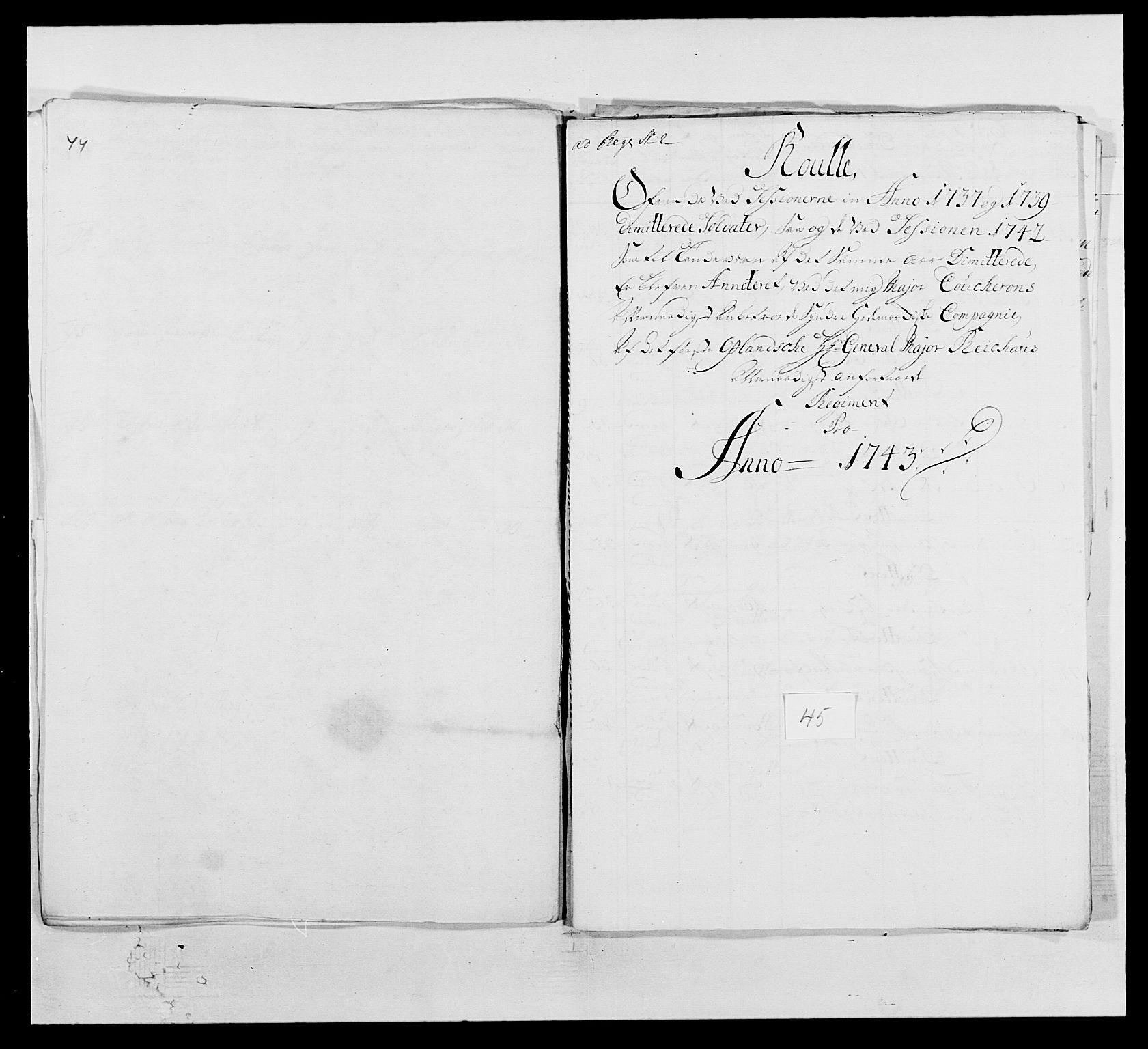 RA, Kommanderende general (KG I) med Det norske krigsdirektorium, E/Ea/L0502: 1. Opplandske regiment, 1720-1743, s. 536