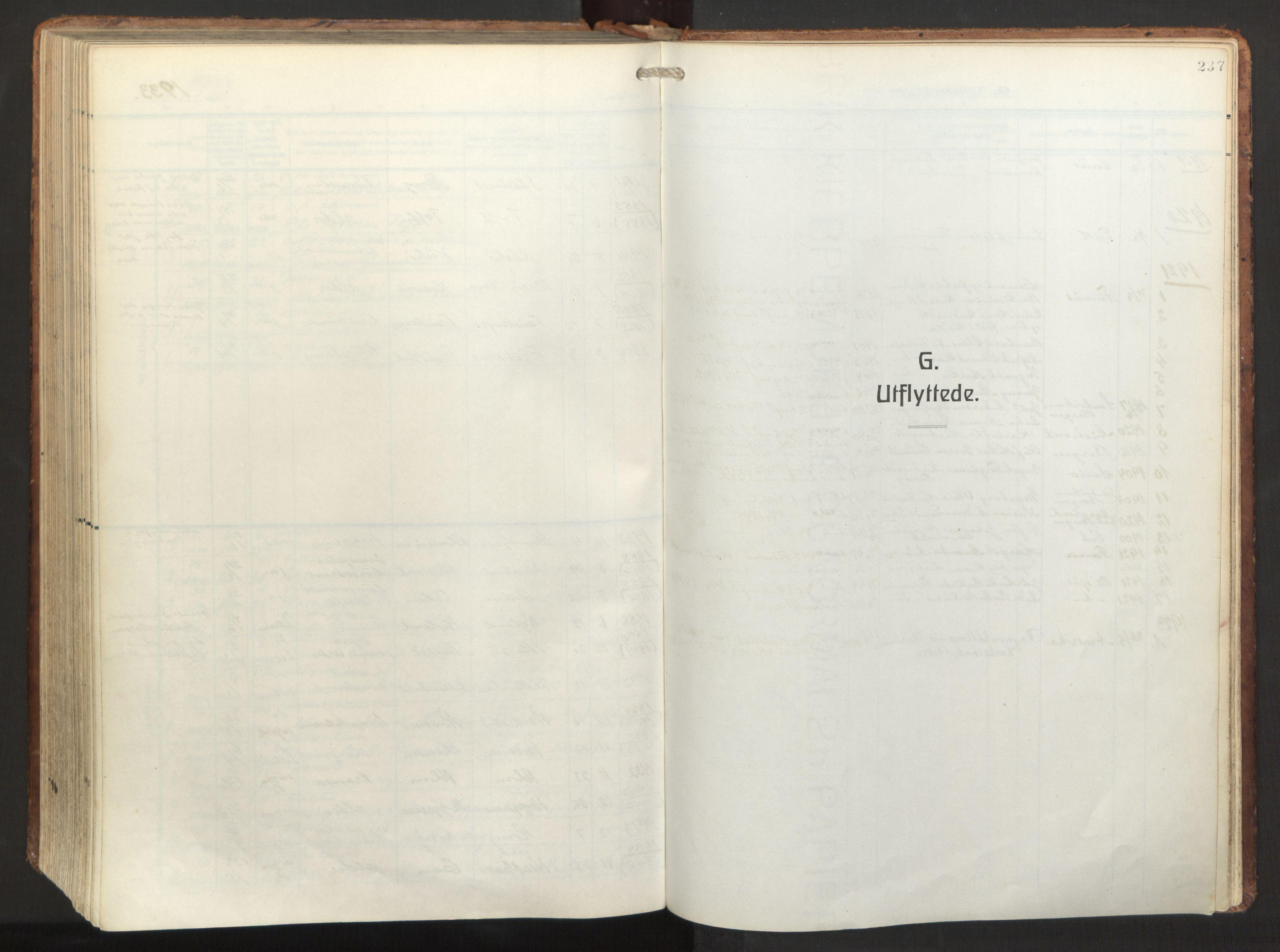SAB, Herdla Sokneprestembete, H/Haa: Ministerialbok nr. A 6, 1918-1933, s. 237