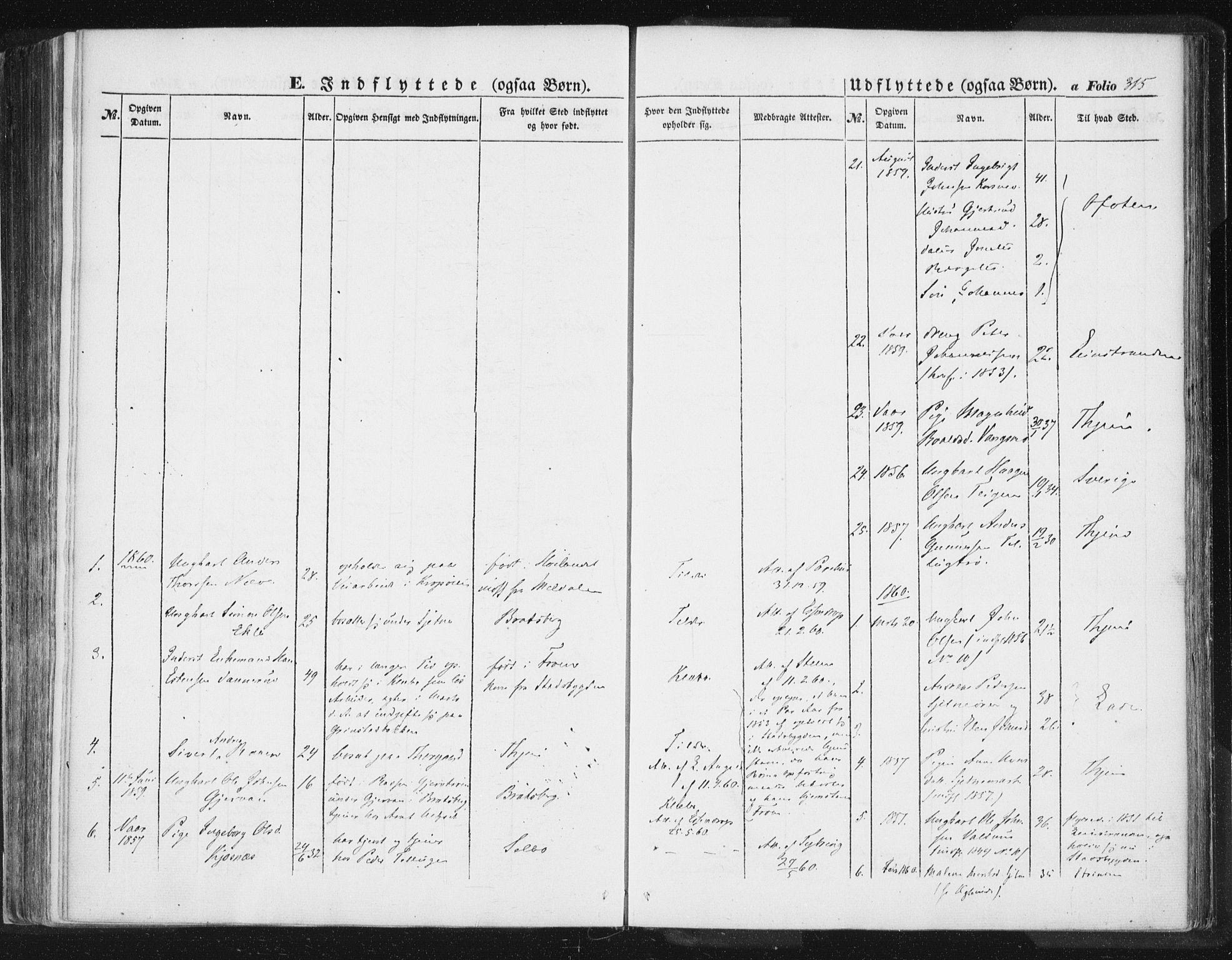 SAT, Ministerialprotokoller, klokkerbøker og fødselsregistre - Sør-Trøndelag, 618/L0441: Ministerialbok nr. 618A05, 1843-1862, s. 315
