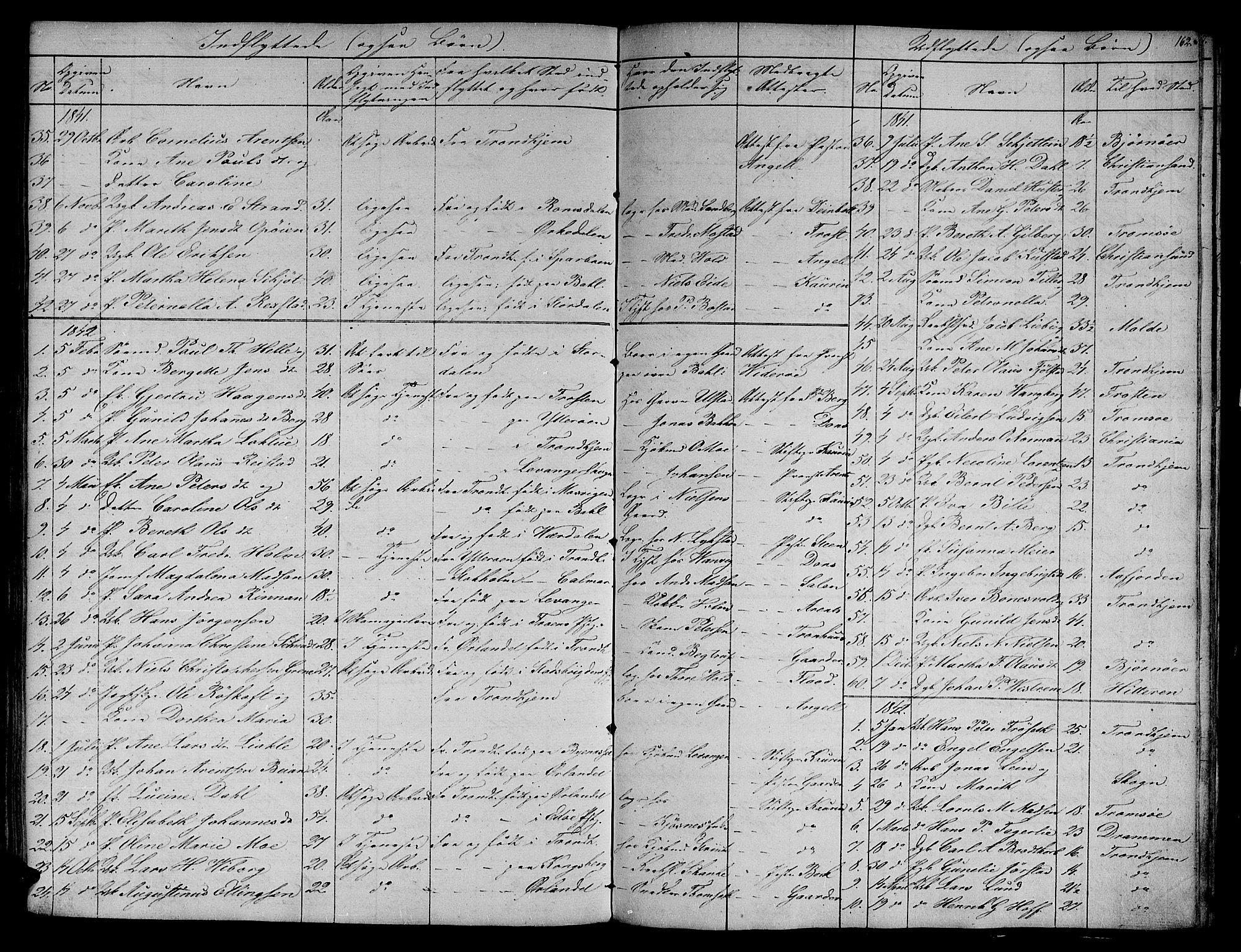 SAT, Ministerialprotokoller, klokkerbøker og fødselsregistre - Sør-Trøndelag, 604/L0182: Ministerialbok nr. 604A03, 1818-1850, s. 162