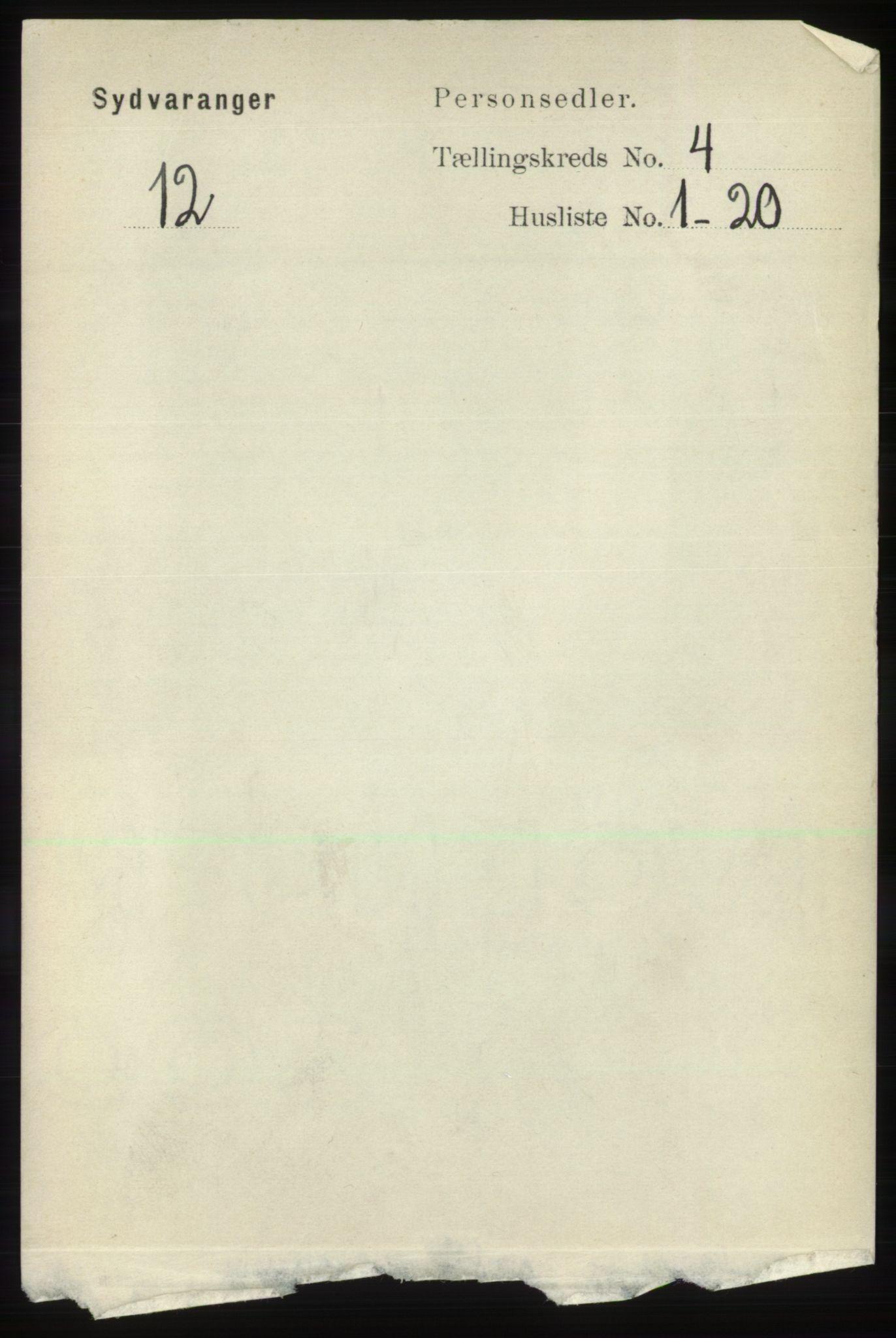 RA, Folketelling 1891 for 2030 Sør-Varanger herred, 1891, s. 1077