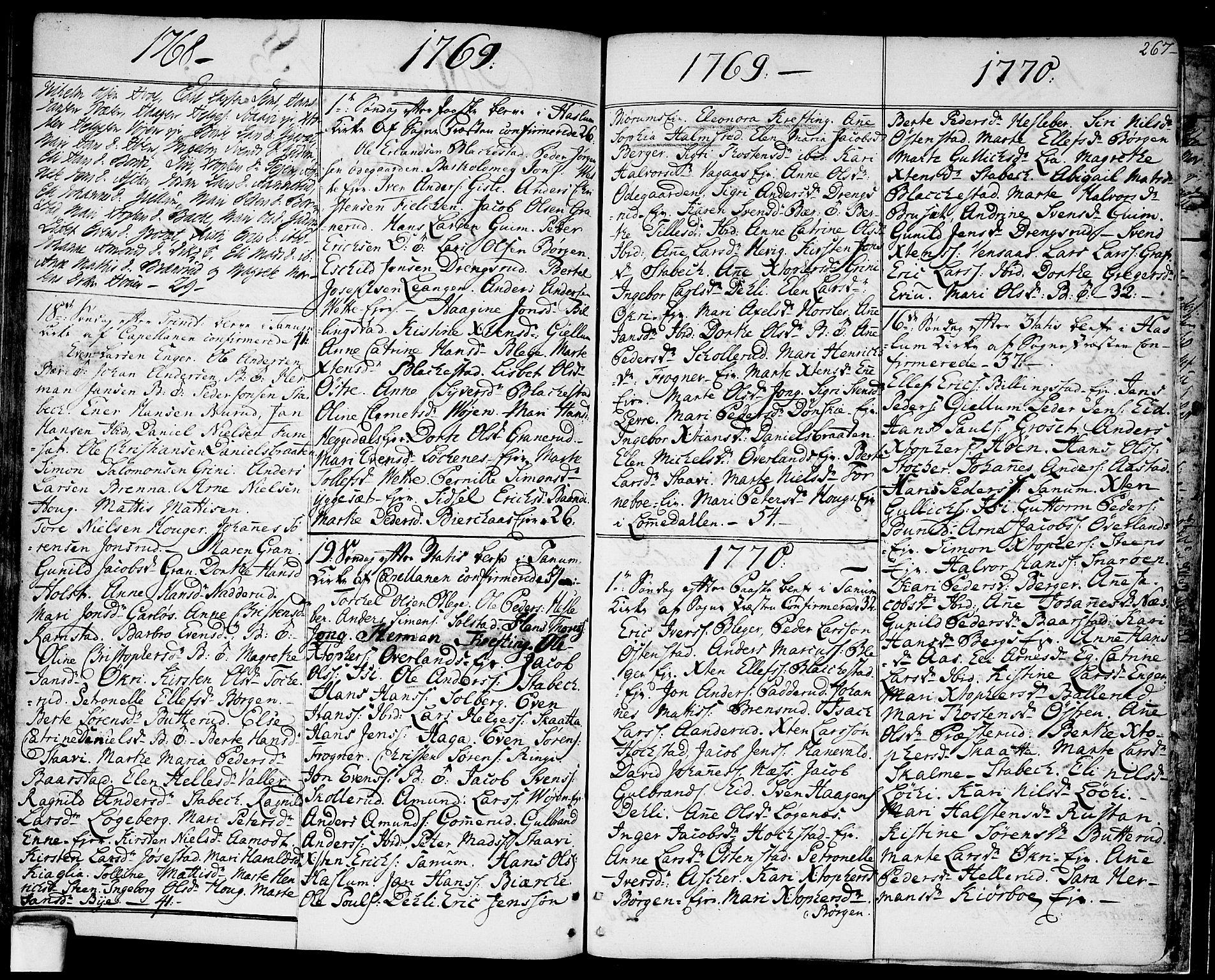 SAO, Asker prestekontor Kirkebøker, F/Fa/L0003: Ministerialbok nr. I 3, 1767-1807, s. 267