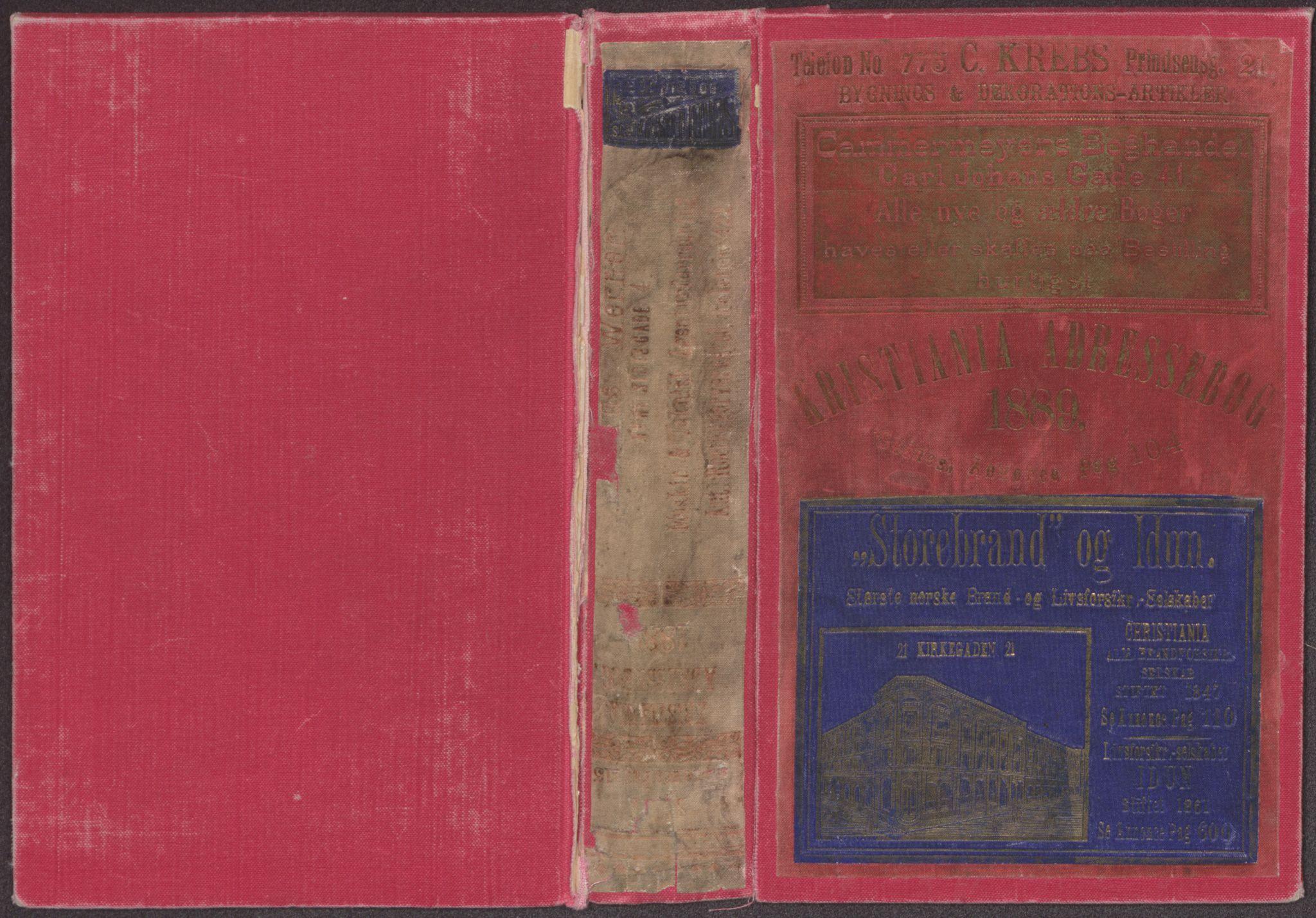 RA, Kristiania adressebok (publikasjon)*, 1889