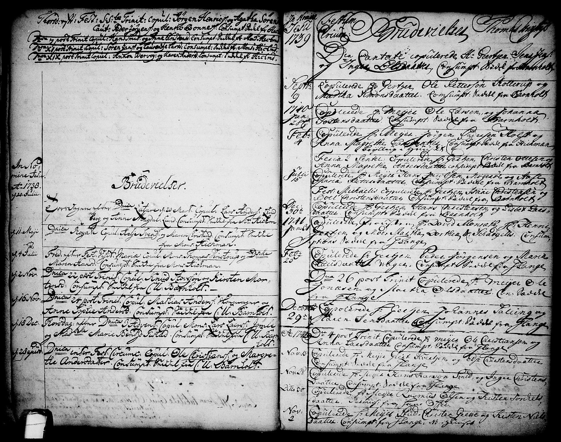 SAKO, Brevik kirkebøker, F/Fa/L0002: Ministerialbok nr. 2, 1720-1764, s. 15
