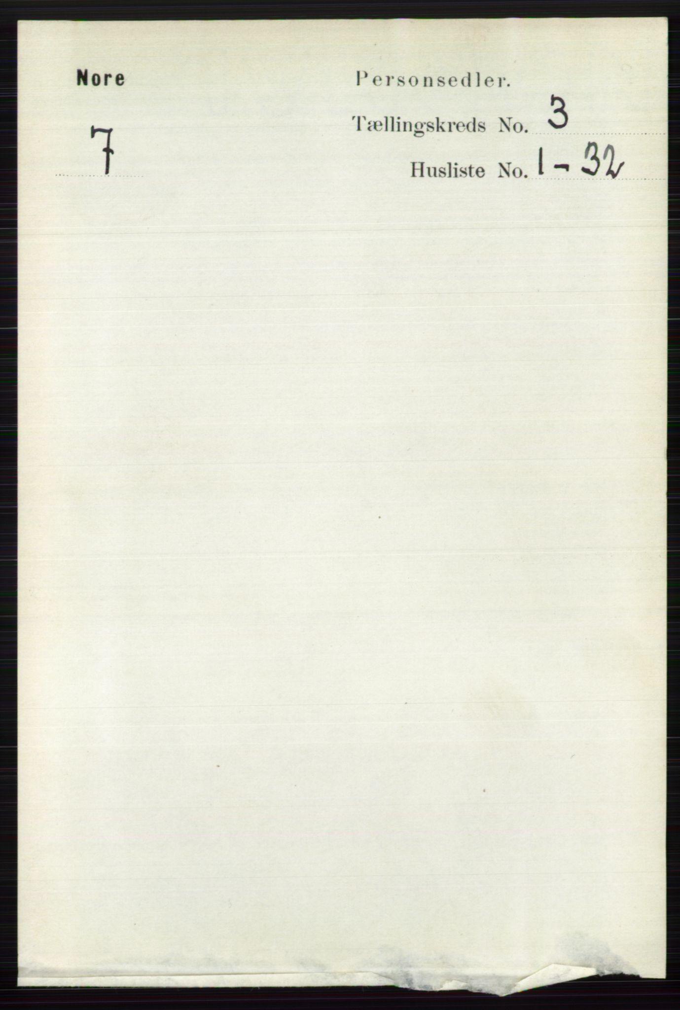 RA, Folketelling 1891 for 0633 Nore herred, 1891, s. 741