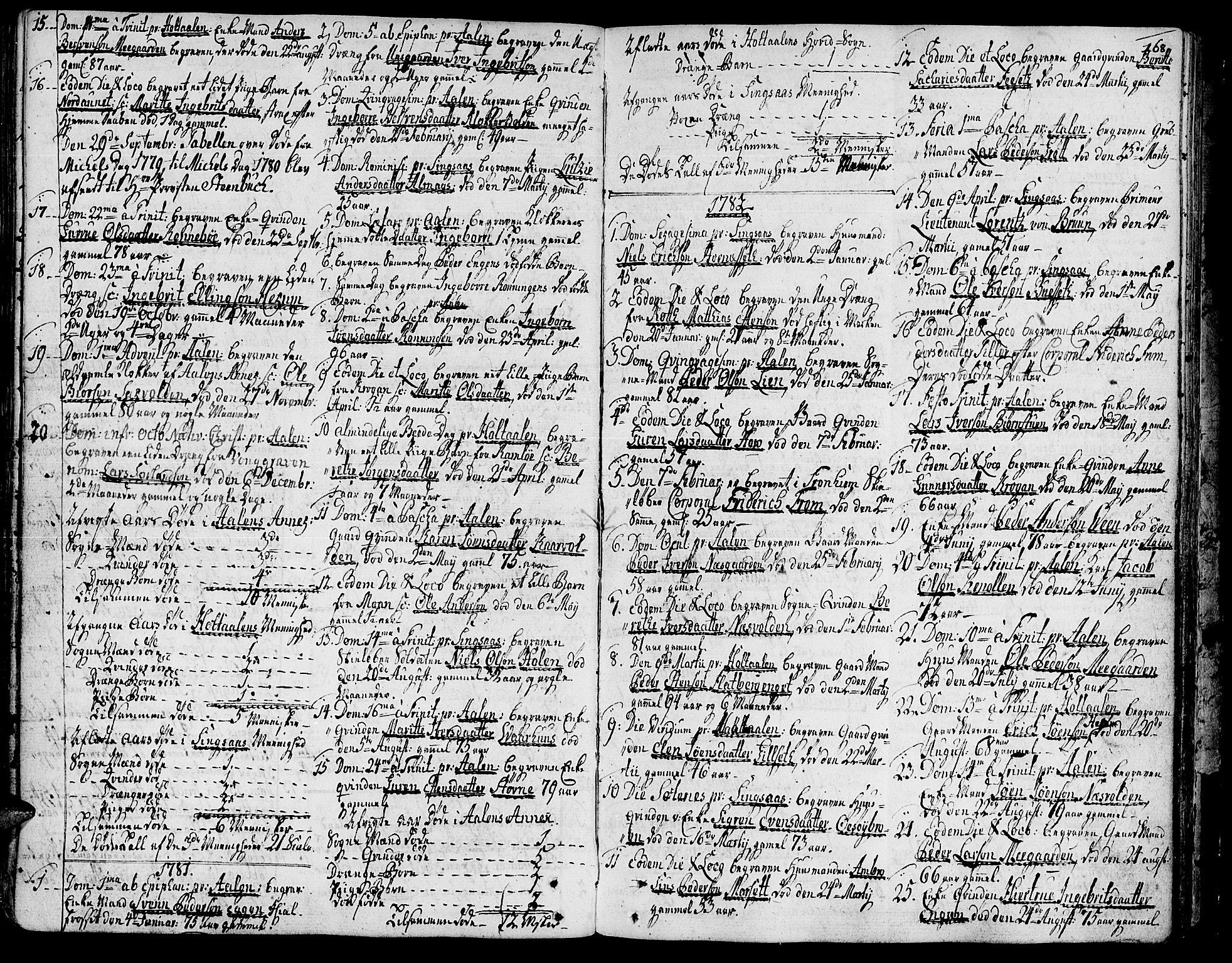 SAT, Ministerialprotokoller, klokkerbøker og fødselsregistre - Sør-Trøndelag, 685/L0952: Ministerialbok nr. 685A01, 1745-1804, s. 168